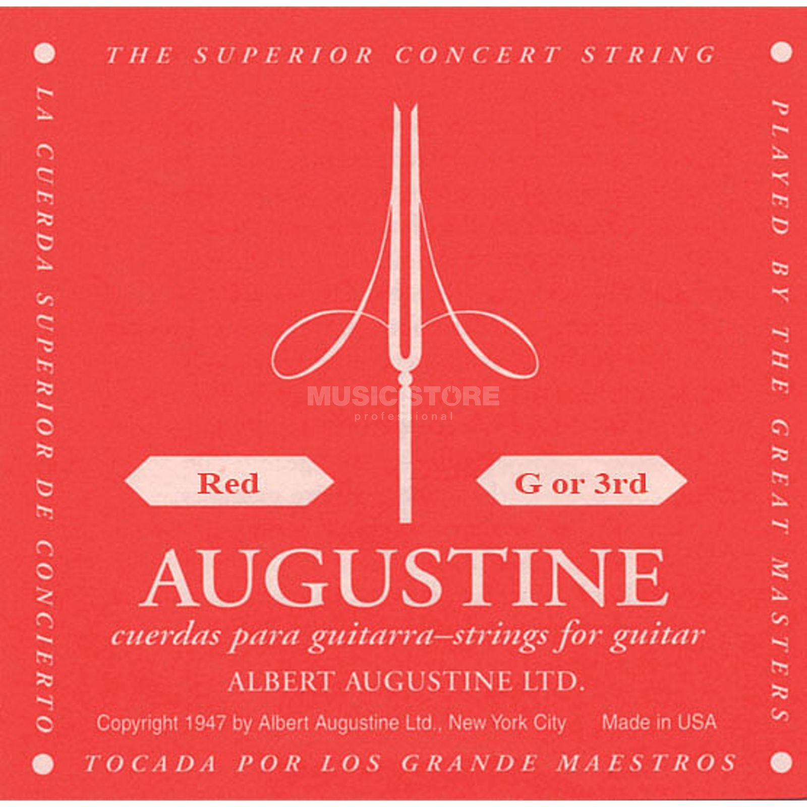 Augustine Single String, 3g red  Immagine prodotto