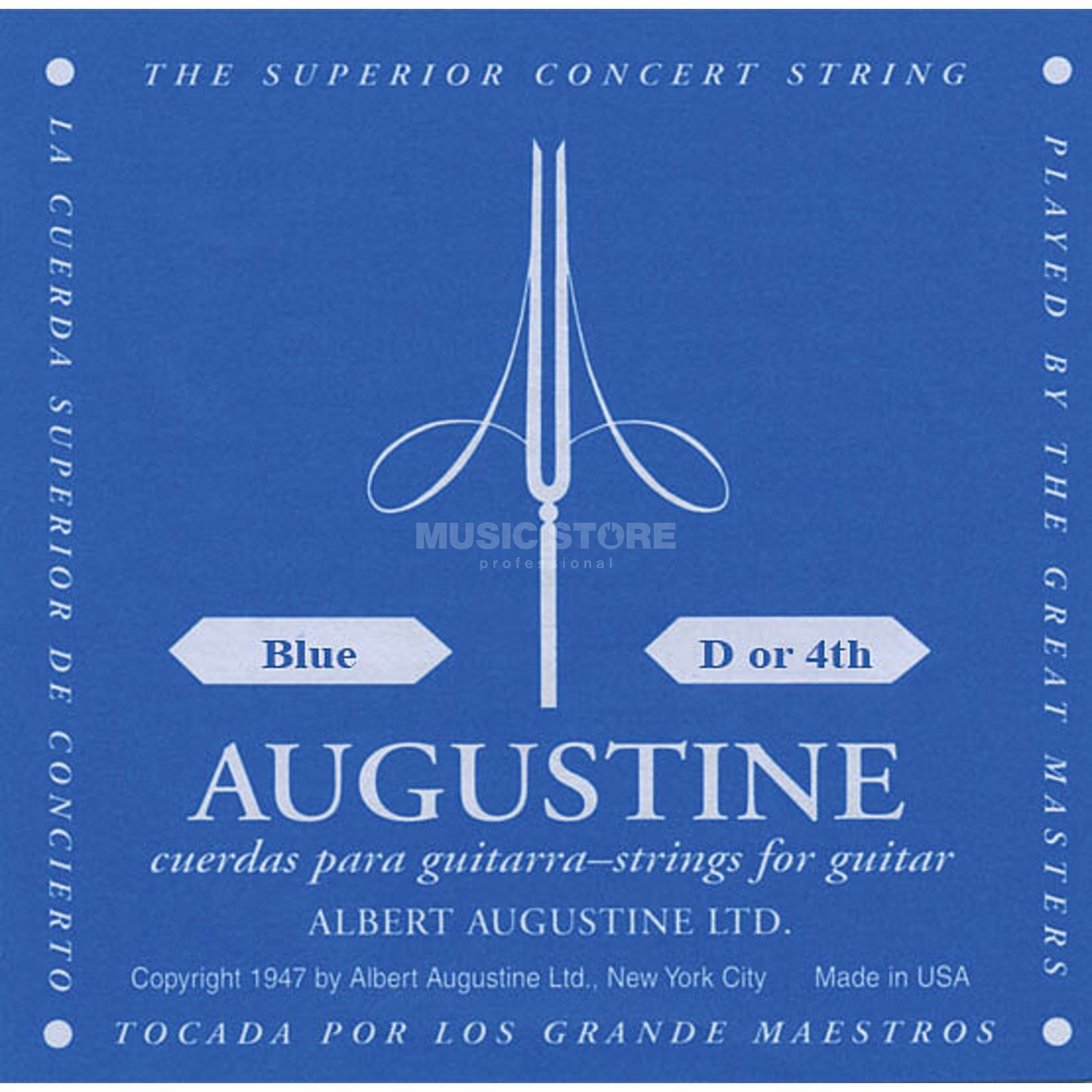 Augustine Single String, 4d blue  Produktbillede