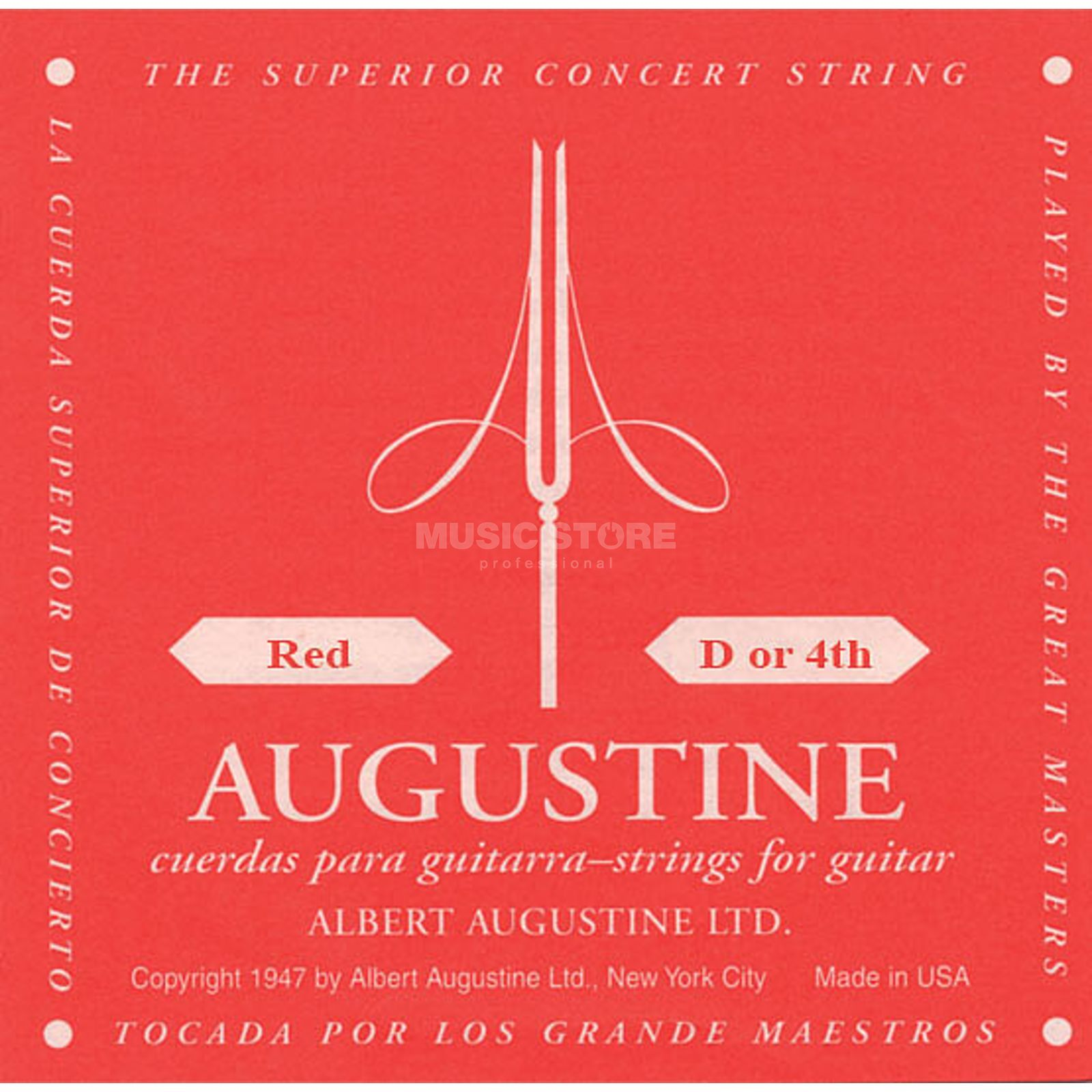 Augustine Single String, 4d red  Produktbillede