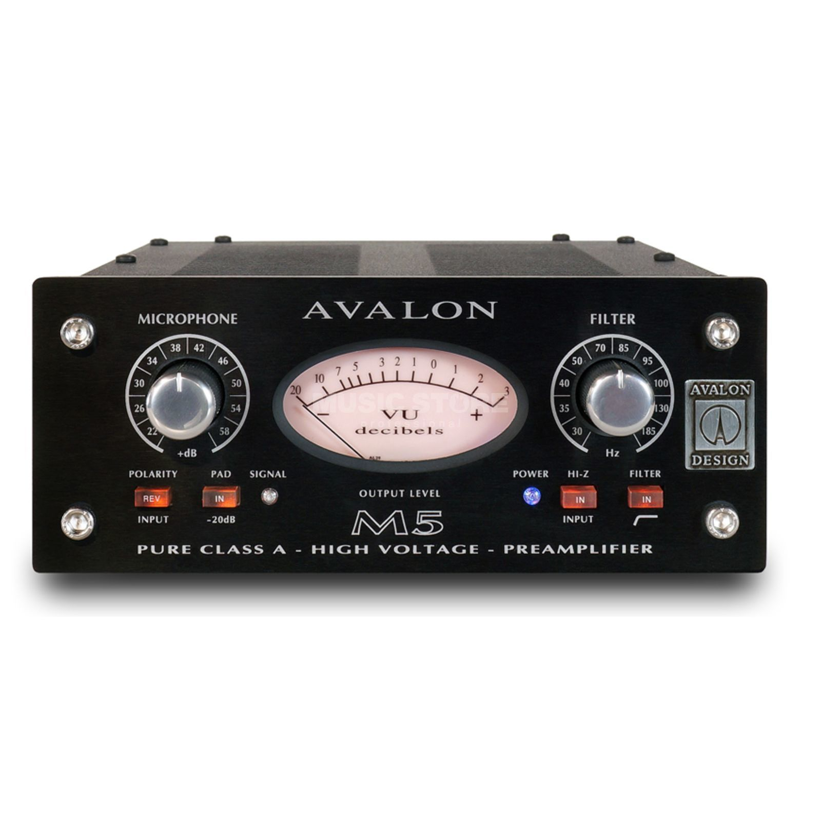 Avalon Design M5 Black Edition Mono Mic PreAmp Produktbild