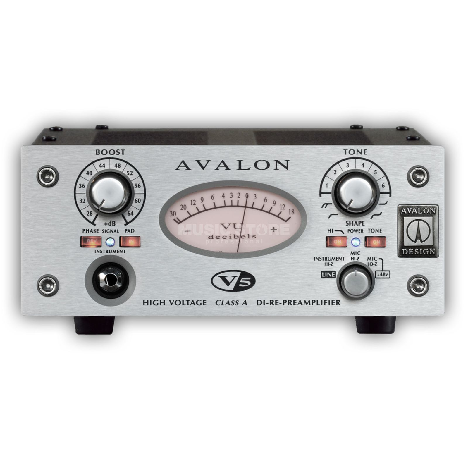 Avalon Design V5 Preamp and DI, Silver    Produktbillede