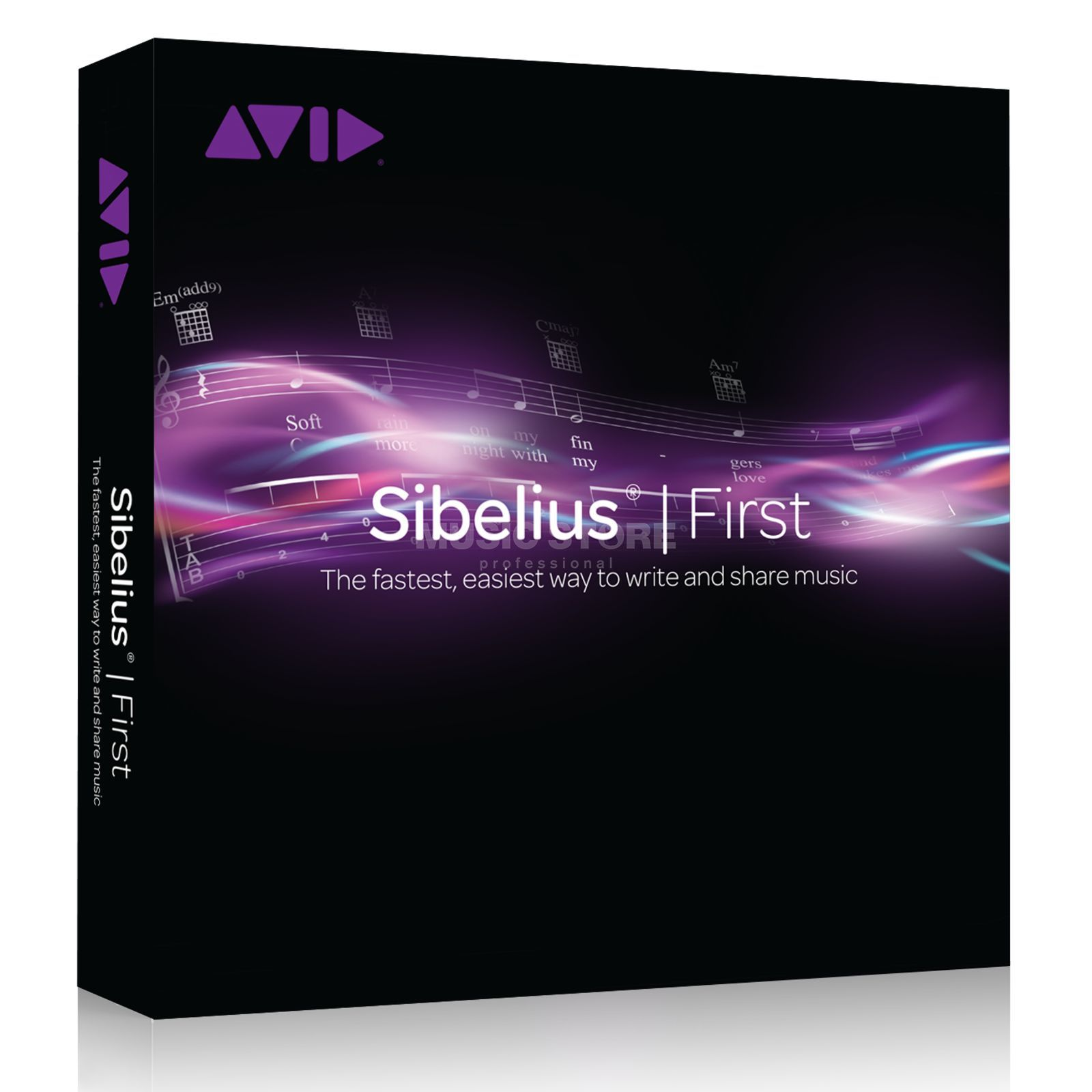 Avid Sibelius First Audio Scoring &  Song Arrangement Software   Produktbillede
