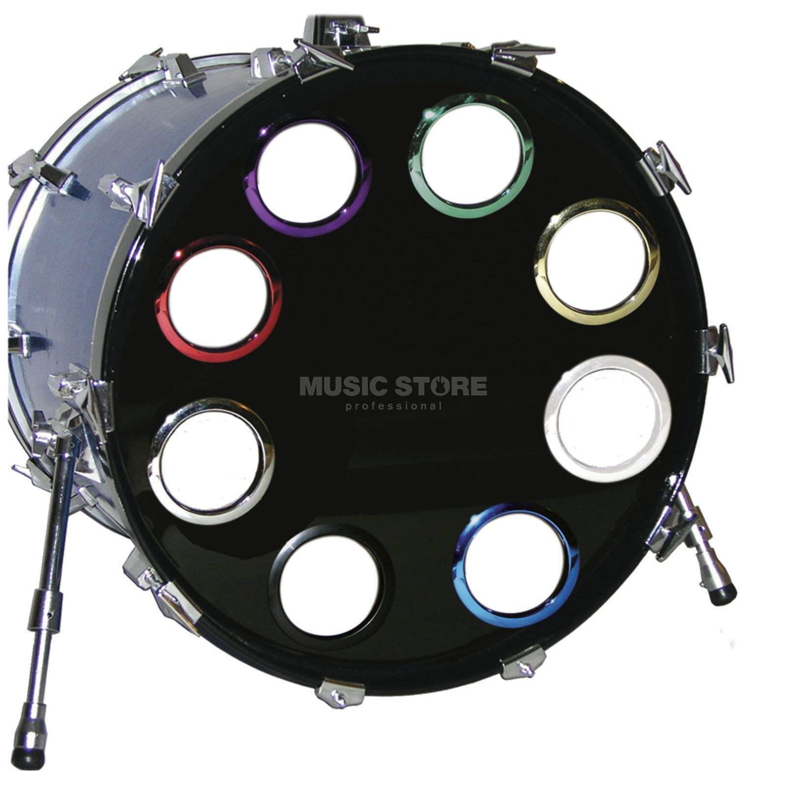 "BASS DRUM O´S BD-Fell Verstärkungsring 4"" Blue Chrome, HCB4 Produktbild"