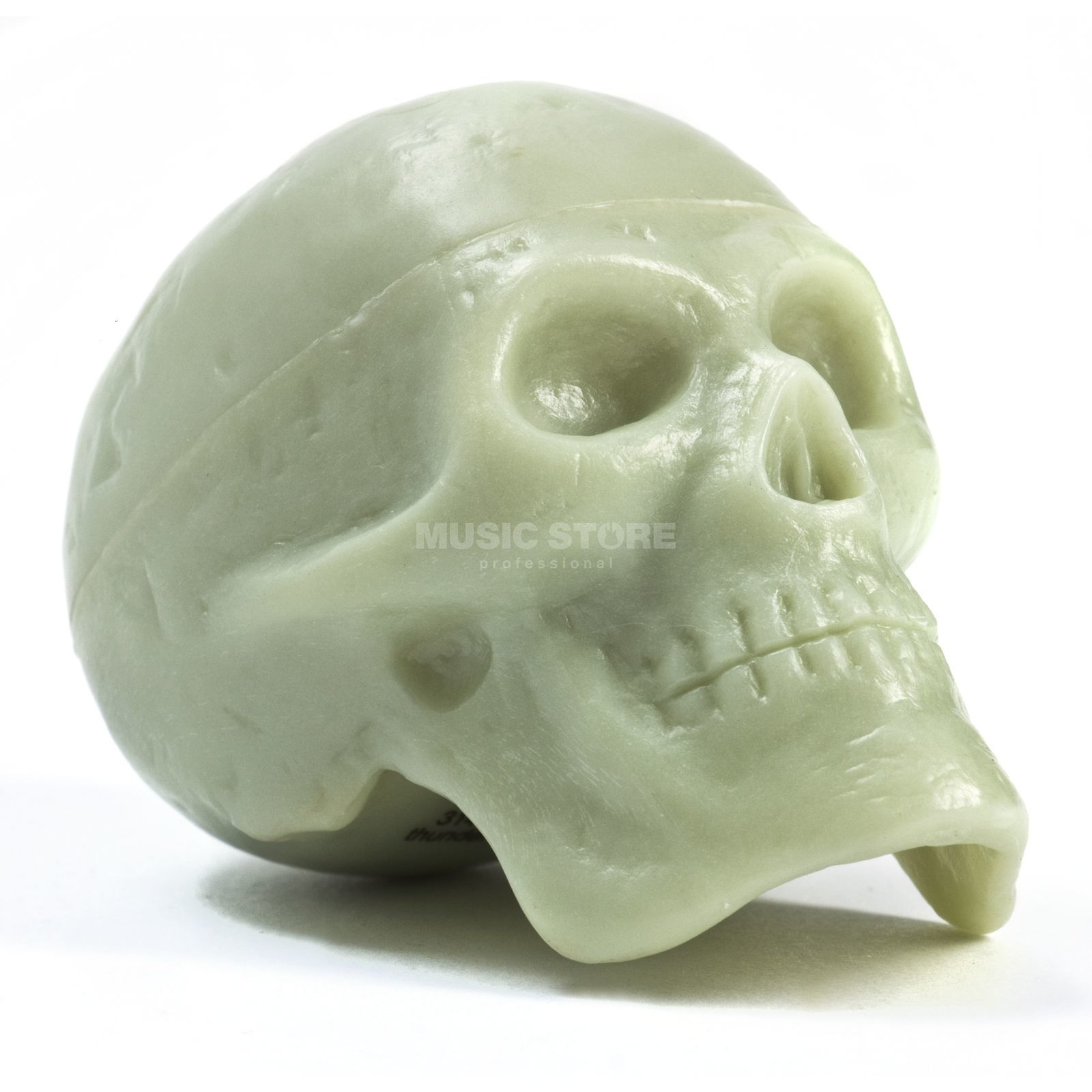 Beadbrains Skull Rhythm Shaker, Glow in the Dark Produktbillede