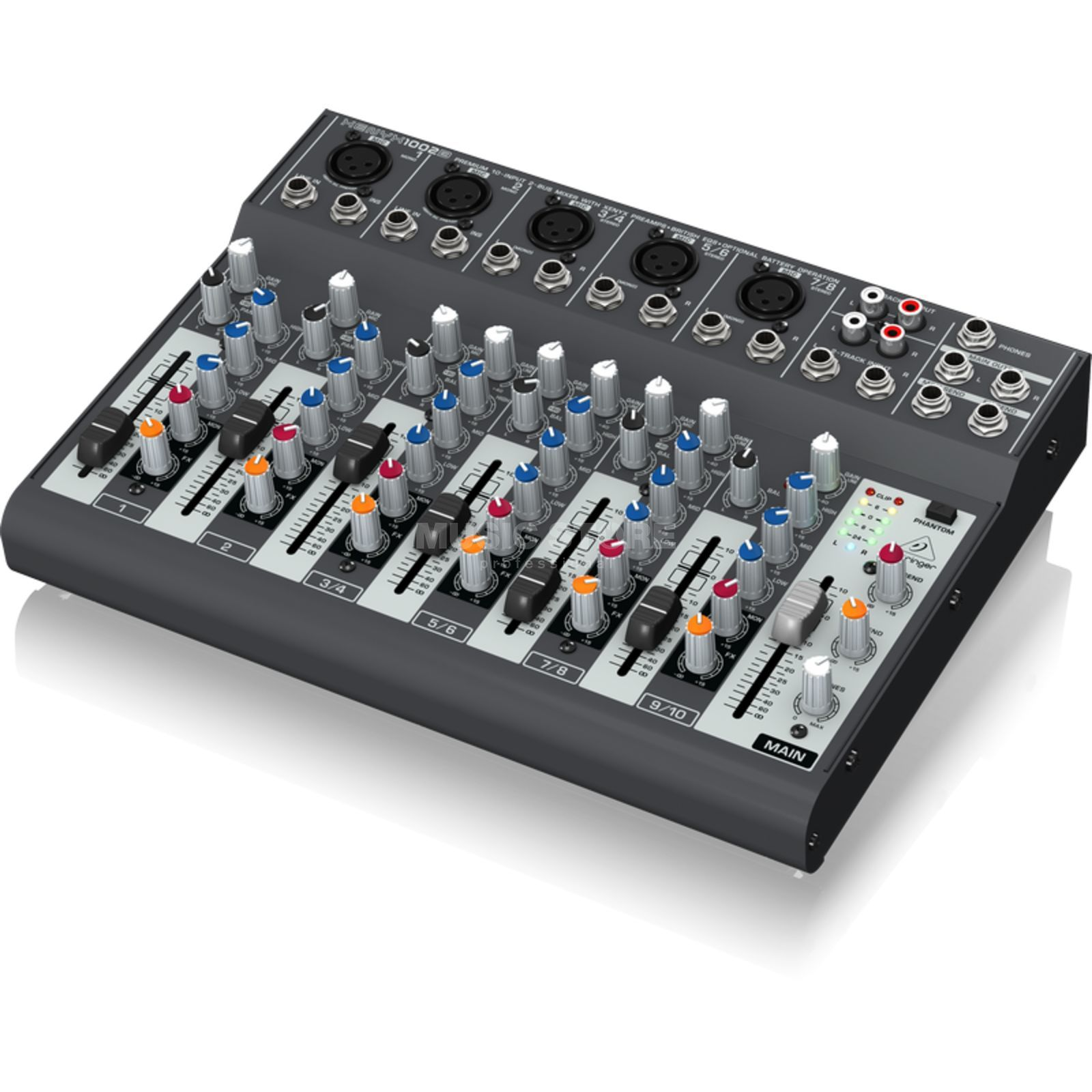 Behringer 1002B Xenyx Mixer optionaler Batteriebetrieb Produktbild