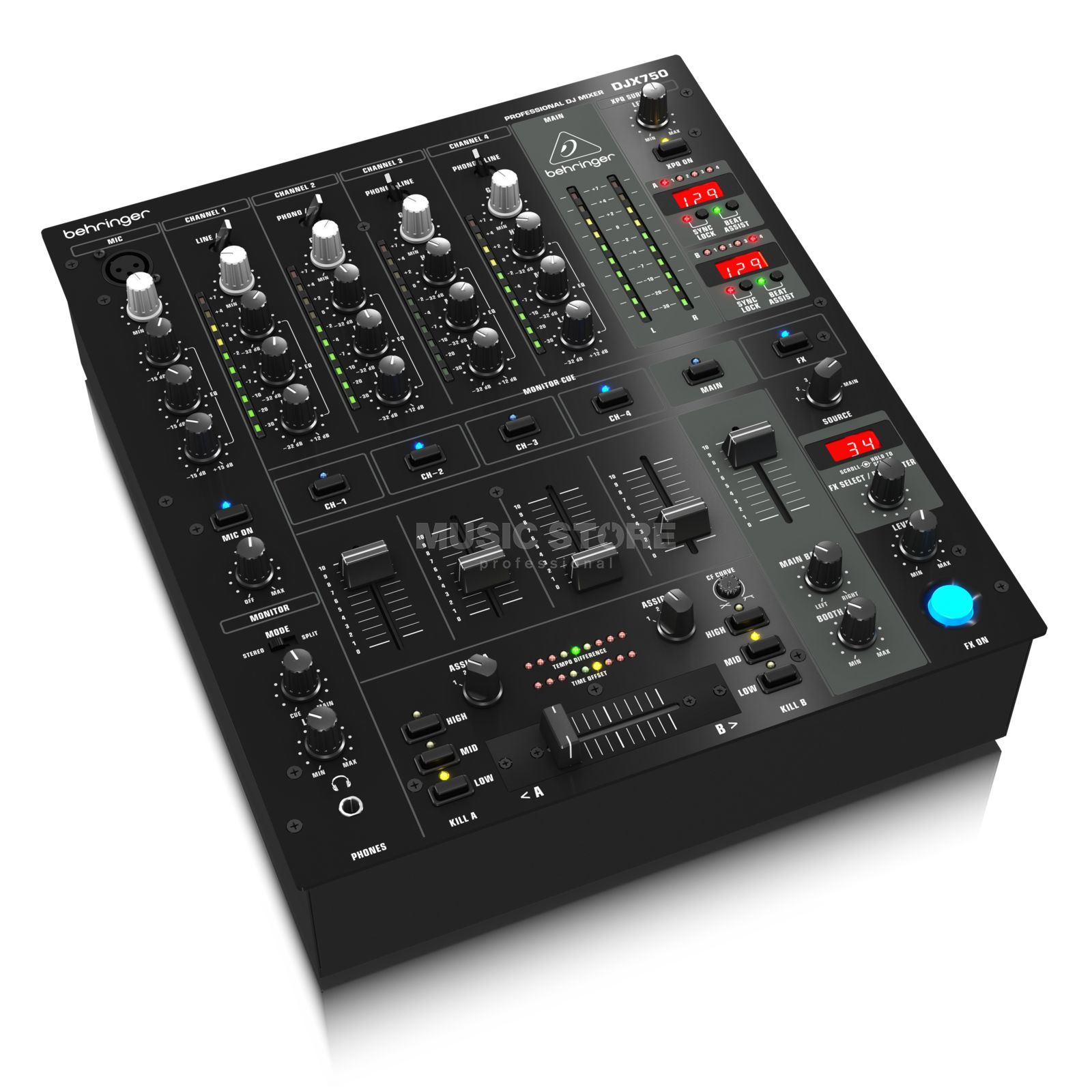 Behringer djx 750 table de mixage dj 5 canaux digital - Table de mixage behringer ...