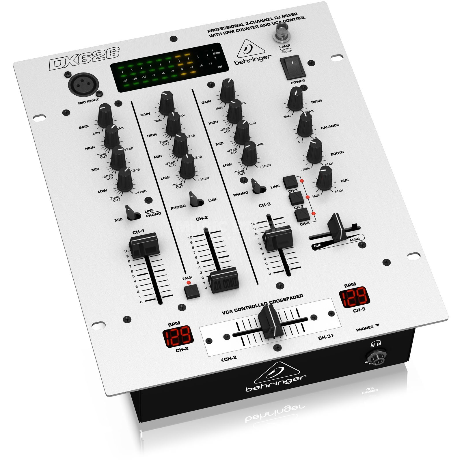 Behringer DX-626 Pro 3-Channel DJ Mixer Product Image