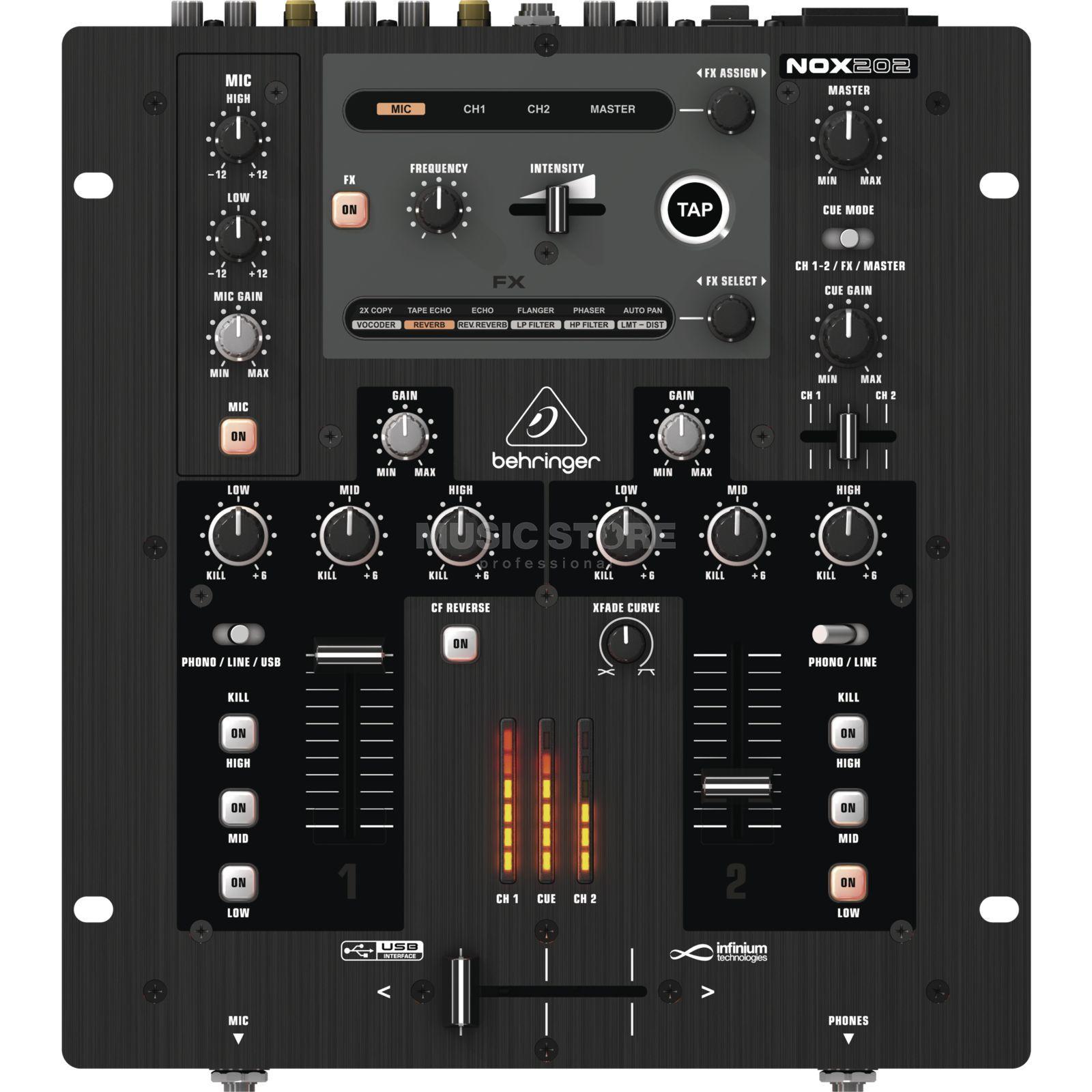 Behringer nox202 mesa de mezcla dj 2 canales - Mesa de mezclas 2 canales ...