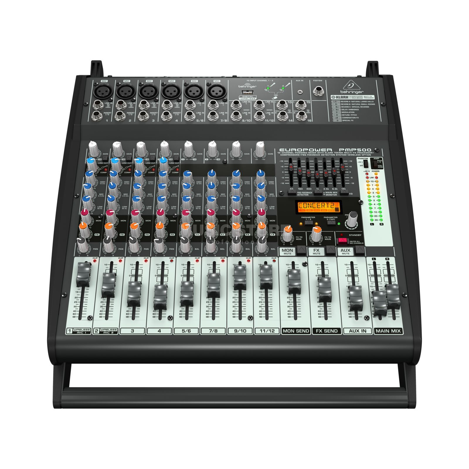 Behringer PMP500 EUROPOWER 500W 12-Channel Powermixer Product Image