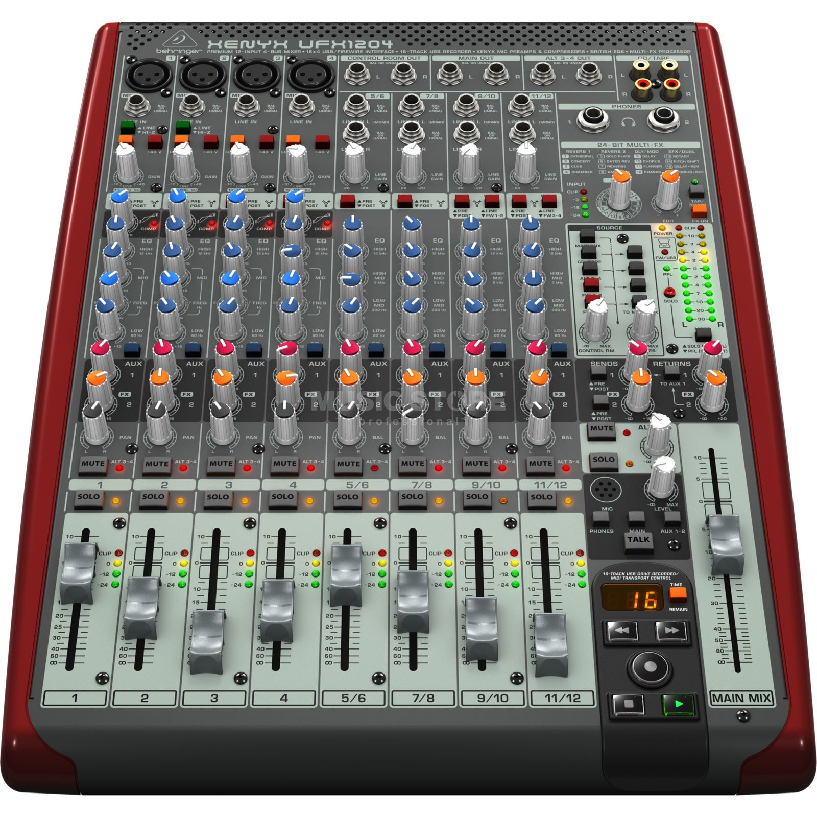 Behringer ufx1204 xenyx recording mischpult mit usb for Table de mixage xpress 6 keywood