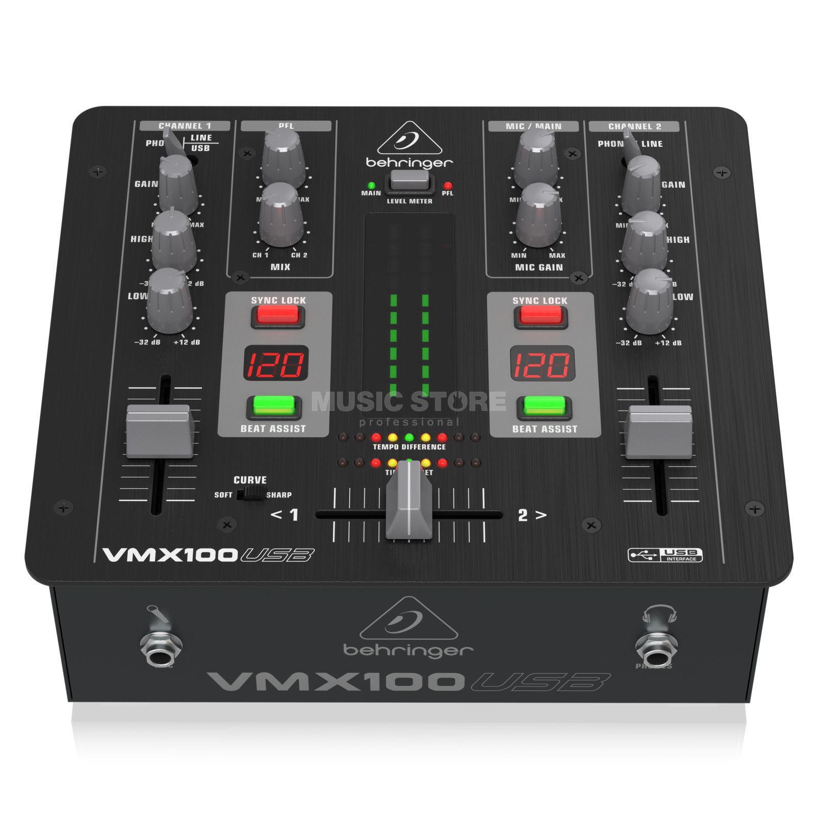 Behringer VMX100USB 2 Channel DJ Mixer with USB Product Image