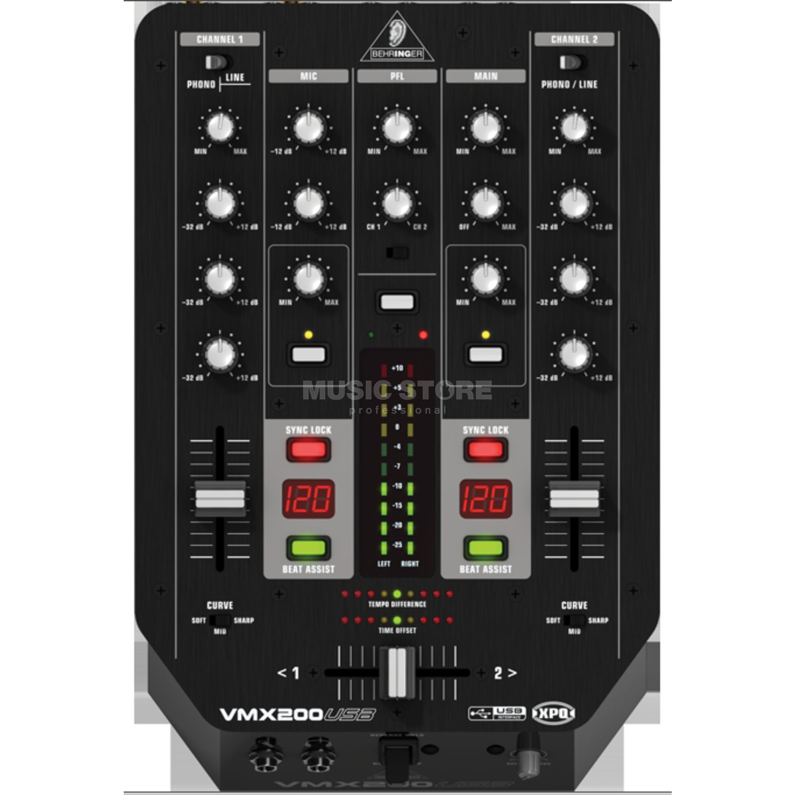 Behringer VMX200USB 2 Channel DJ Mixer with USB Produktbillede