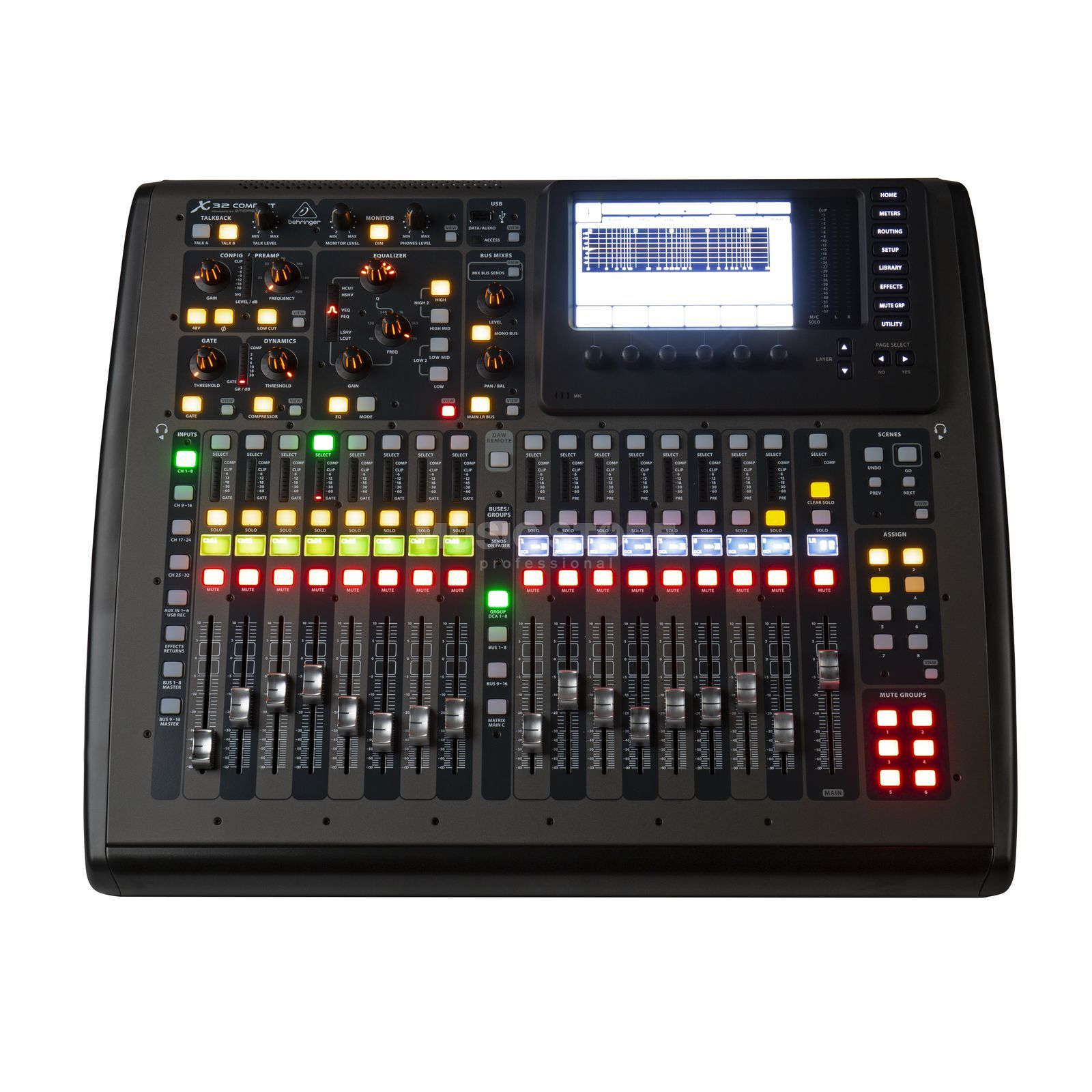 behringer x32 compact digital mixer w midas preamps. Black Bedroom Furniture Sets. Home Design Ideas