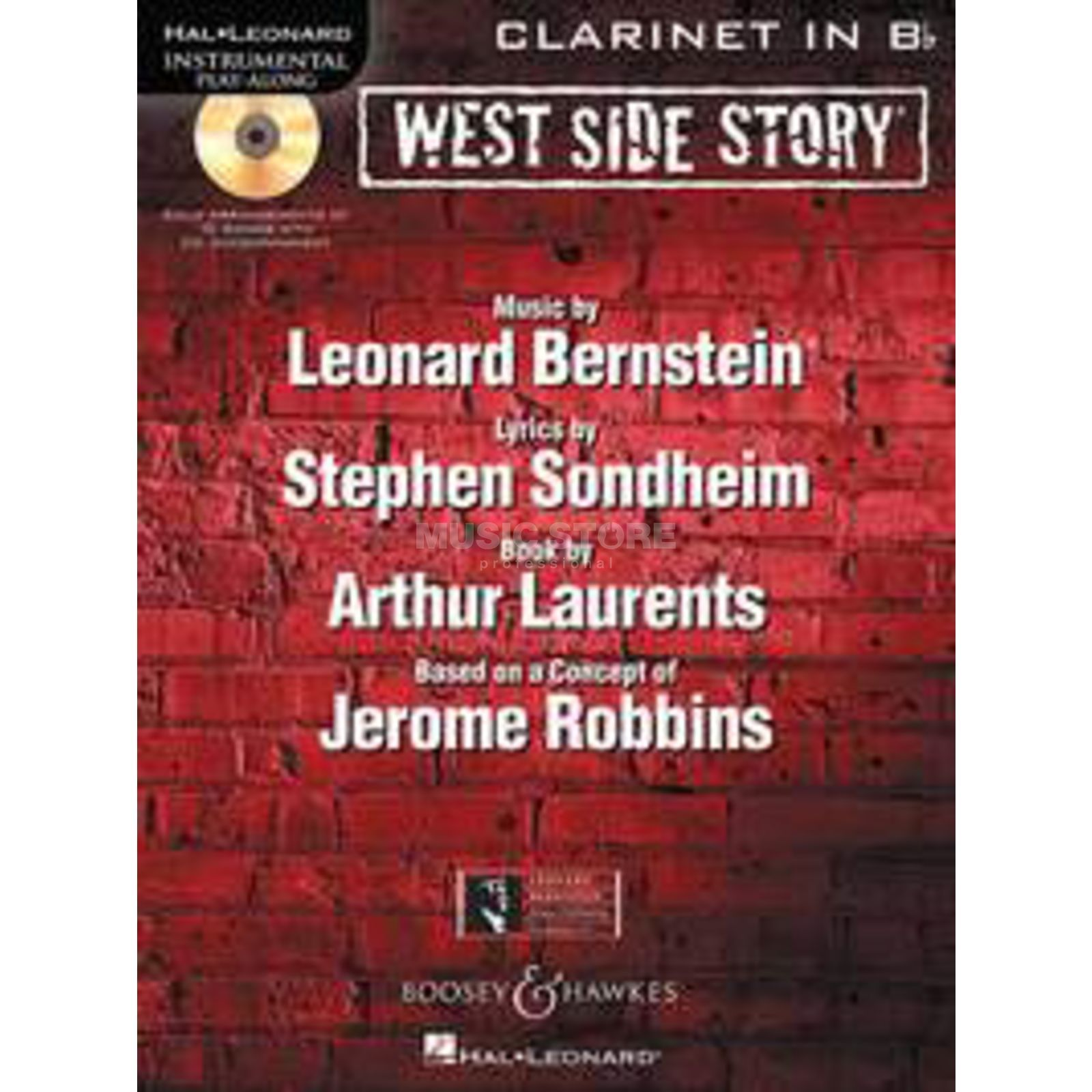 Boosey & Hawkes West Side Story, Play-Along Bernstein, Klarinette, Buch/CD Produktbild