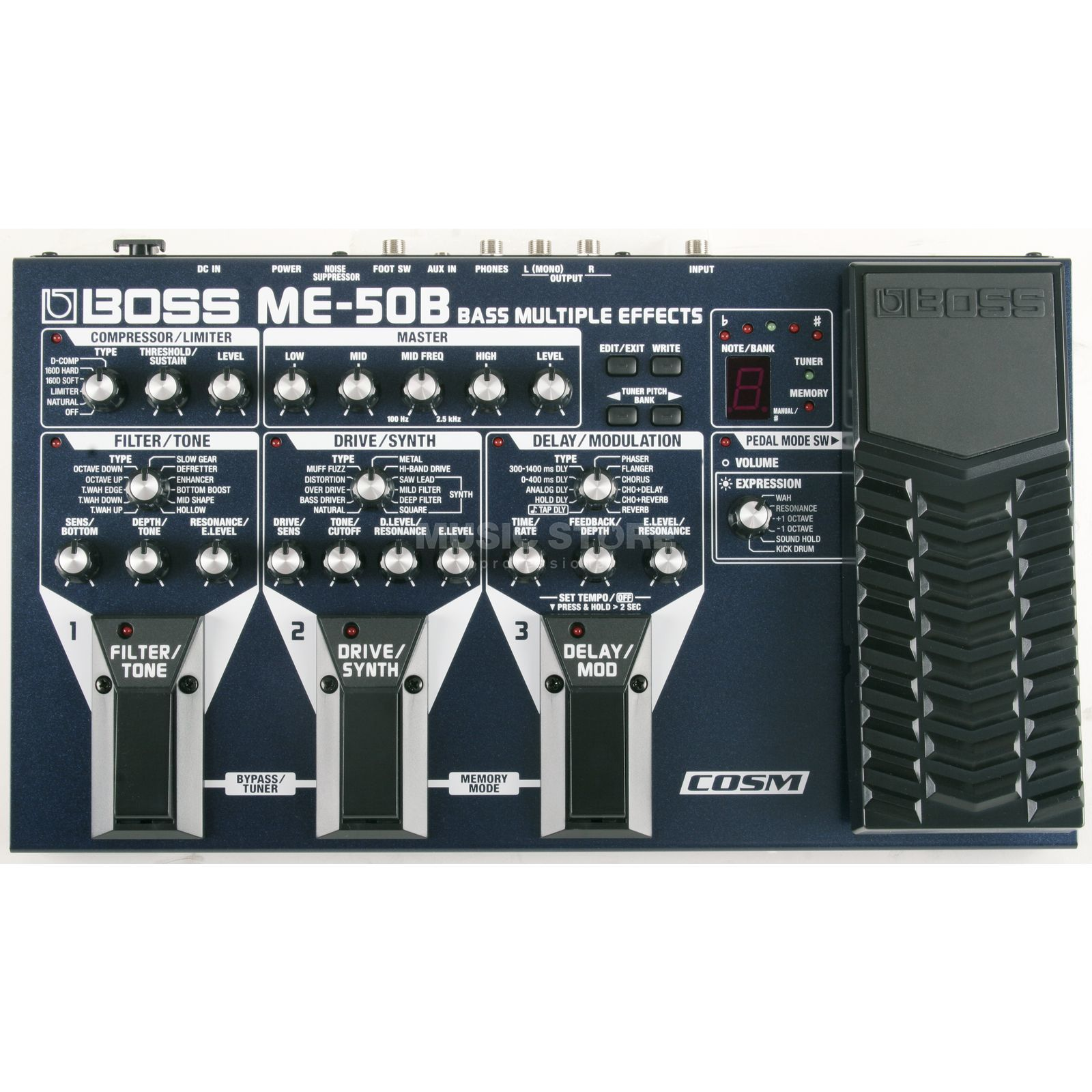 Boss ME-50B Bass Multi-FX-Processor Power Supply optional Zdjęcie produktu