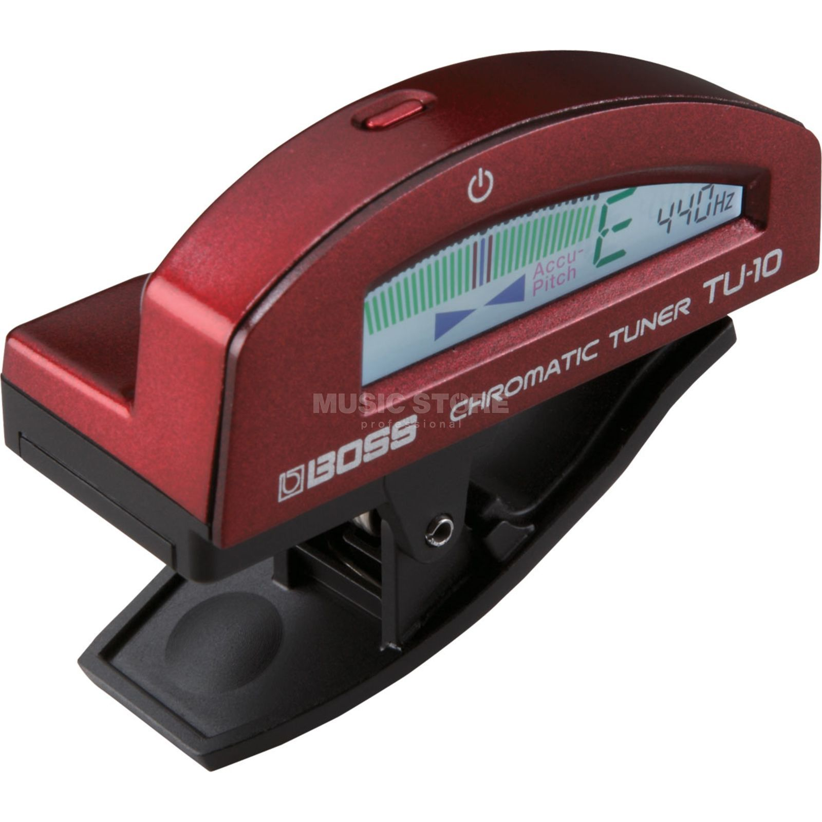 Boss TU-10-MRD Clip-on Tuner Metallic Red Produktbillede