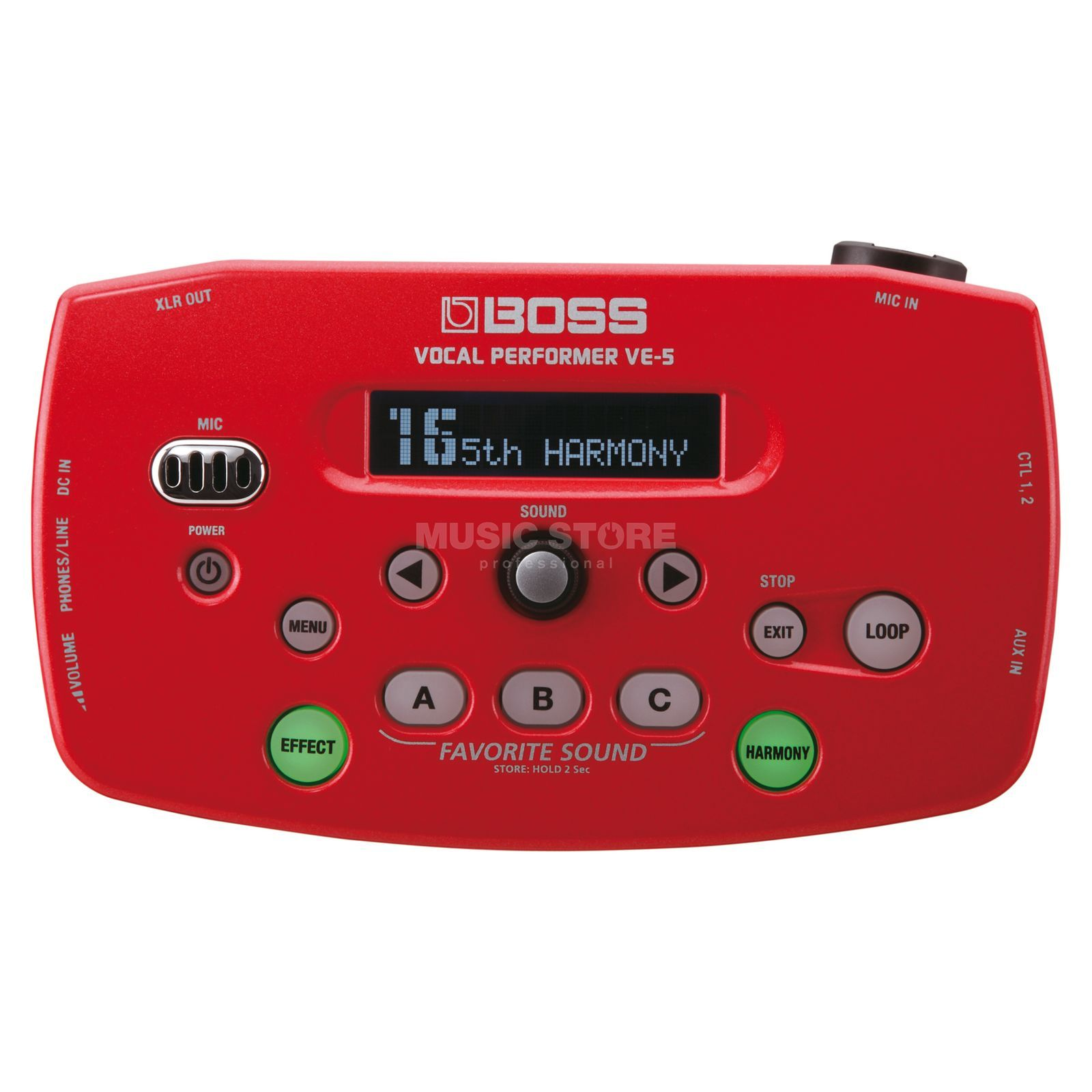 Boss VE-50 Vocal Performer Red  Produktbillede