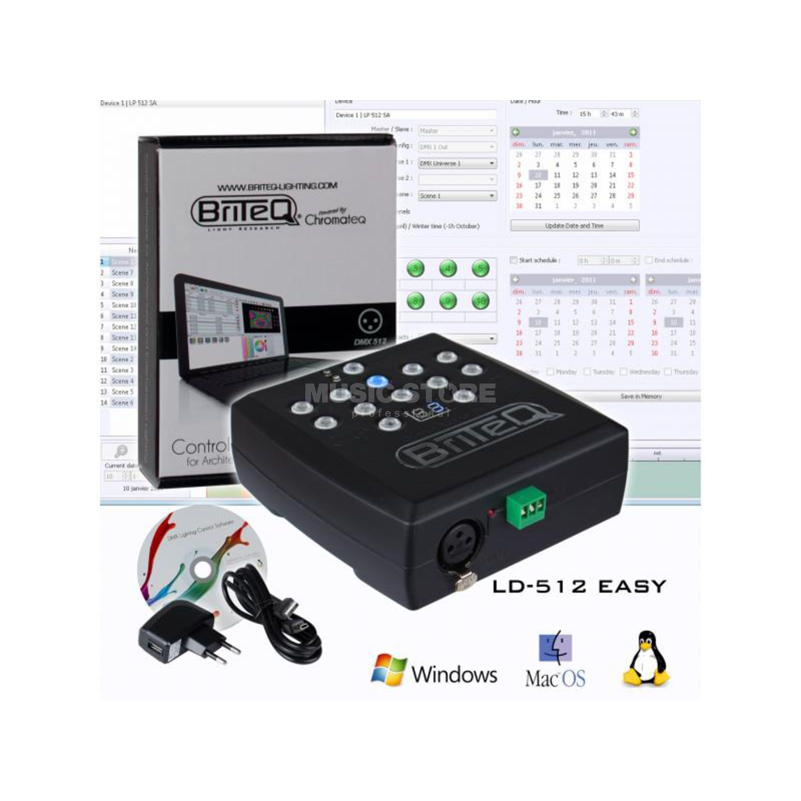 Briteq LD-512 Easy DMX Software 512 Channels Εικόνα προιόντος
