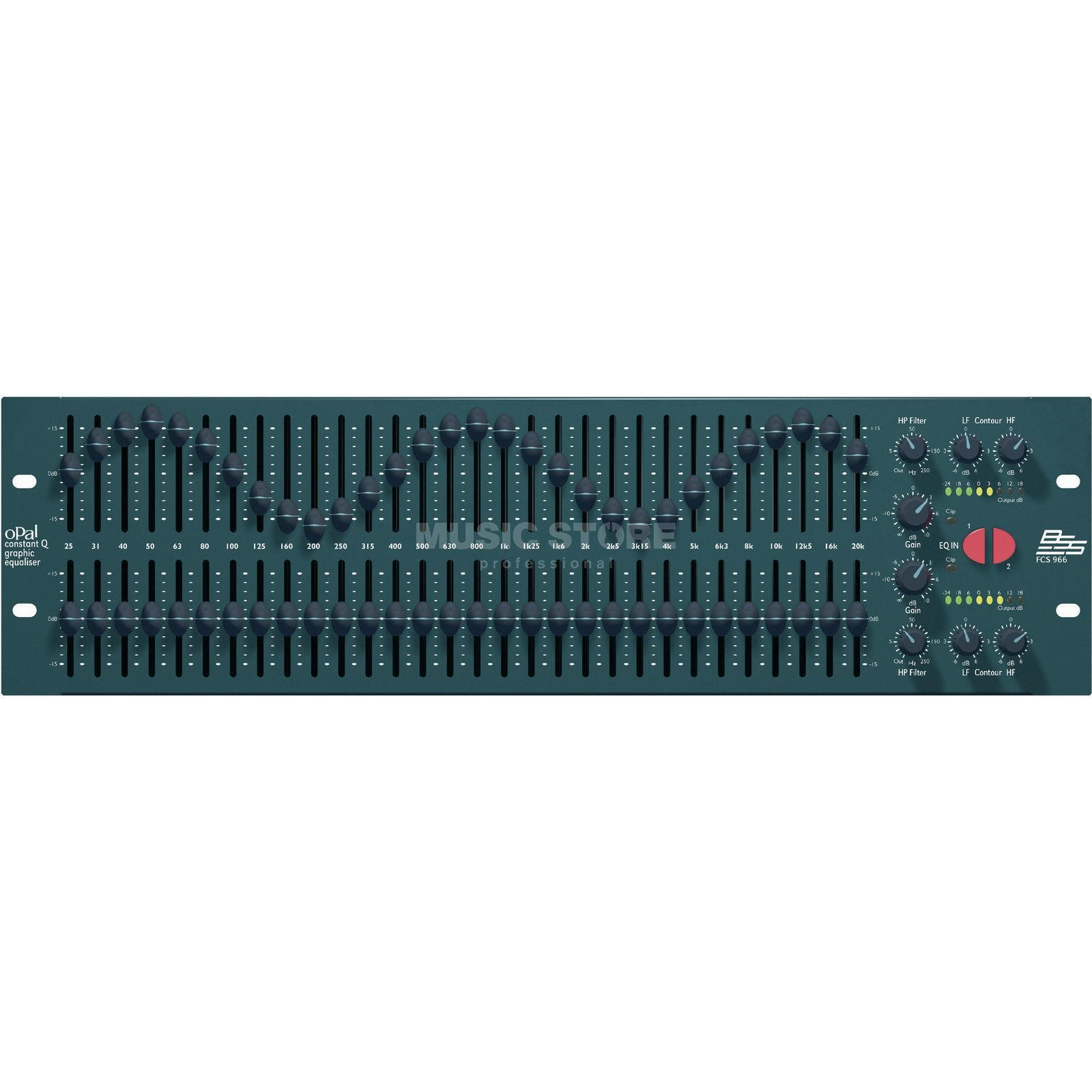 BSS FCS-966 2x 30 Band Graphic EQ Produktbild