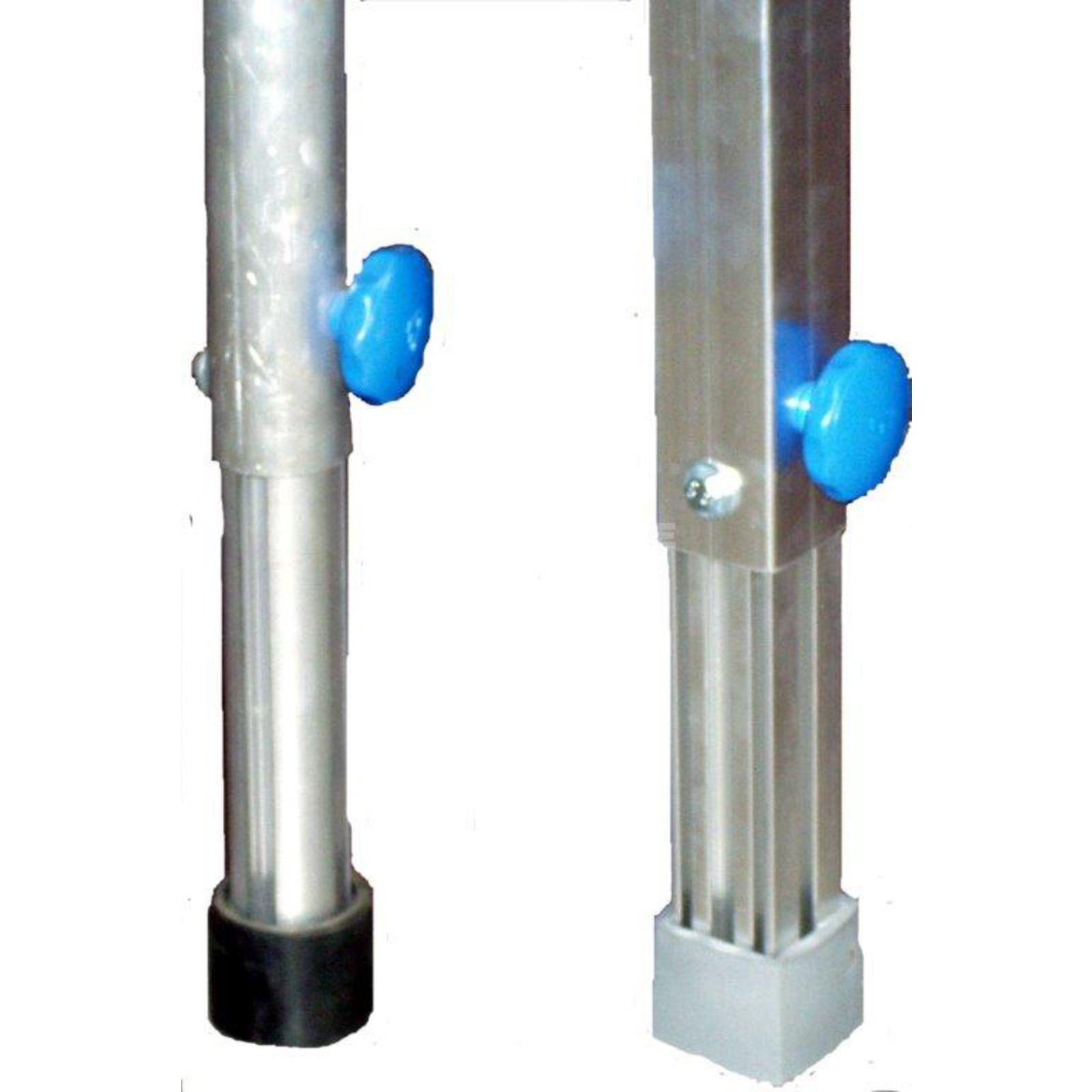 B tec pied t lescopique 80 130 cm aluminium carr 4 pi ces - Pied de table telescopique ...