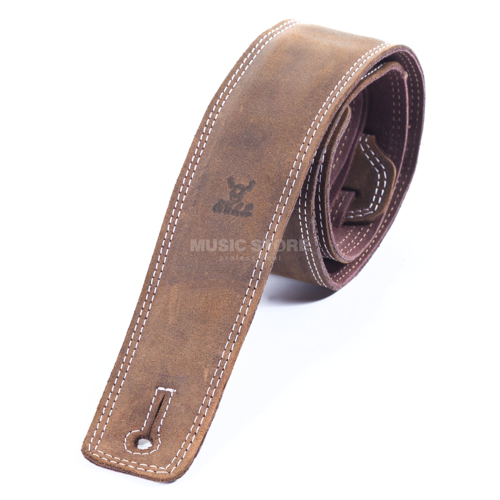 "Bull Nubuk Leather Strap - Antique Brown 2.5"" 0.98-1.45m Produktbillede"