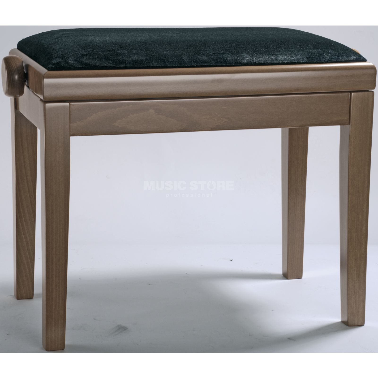 Burghardt B5 Piano Bench Cherry antique Seat Cover Velvet Black Produktbillede
