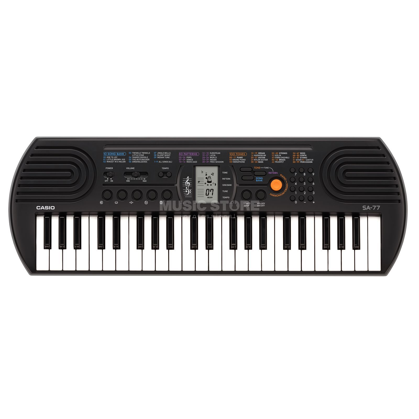 Casio SA 77 Keyboard, grey Produktbillede