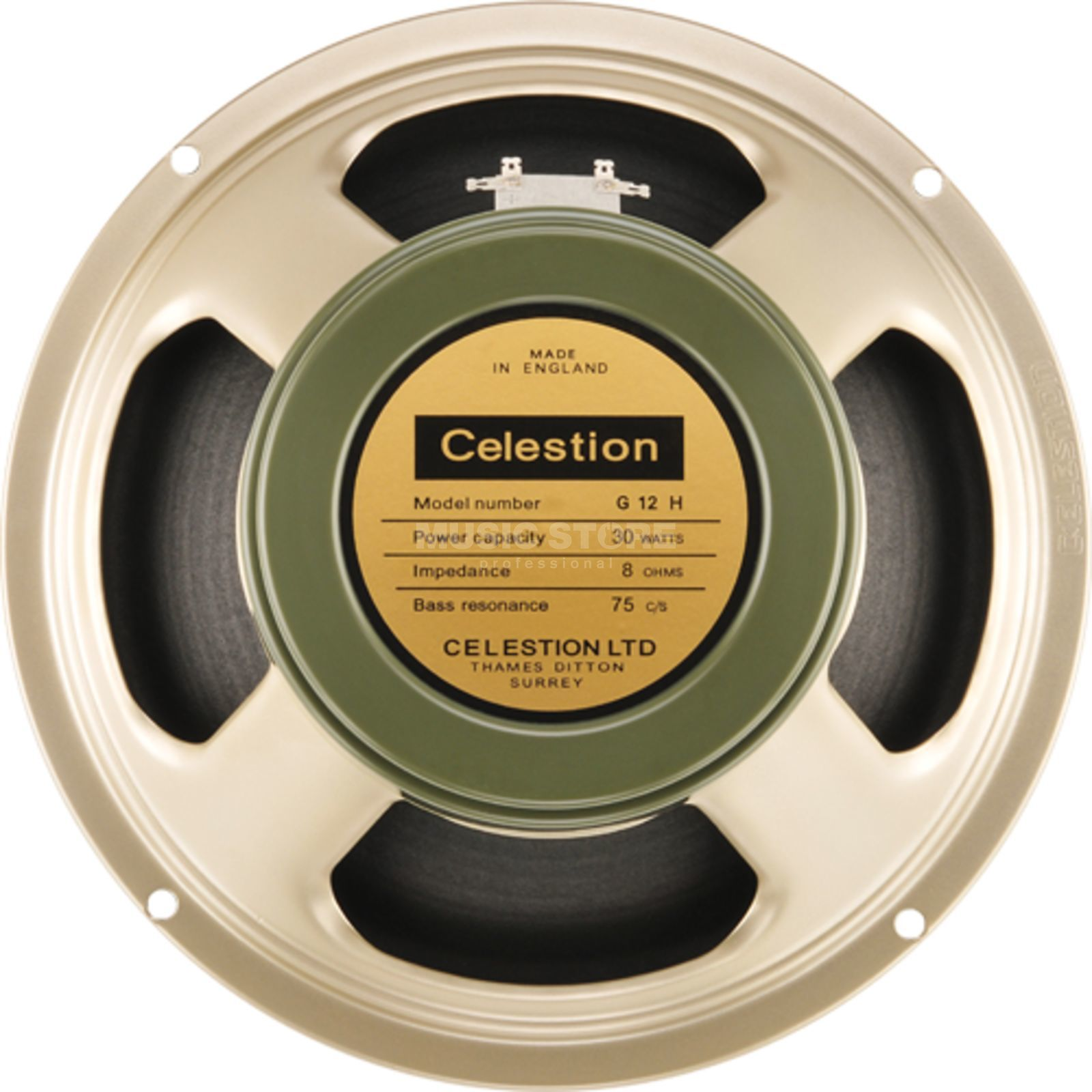 "Celestion Heritage G12H (75Hz) 12"" 8 Ohm Product Image"