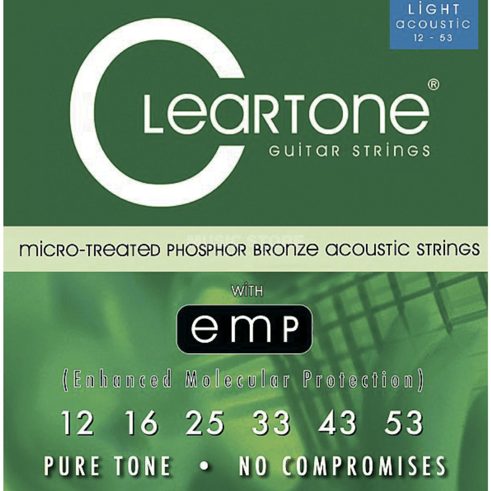 Cleartone A-Guitar Strings 12-53 CT7412 Light, EMP Strings Produktbillede