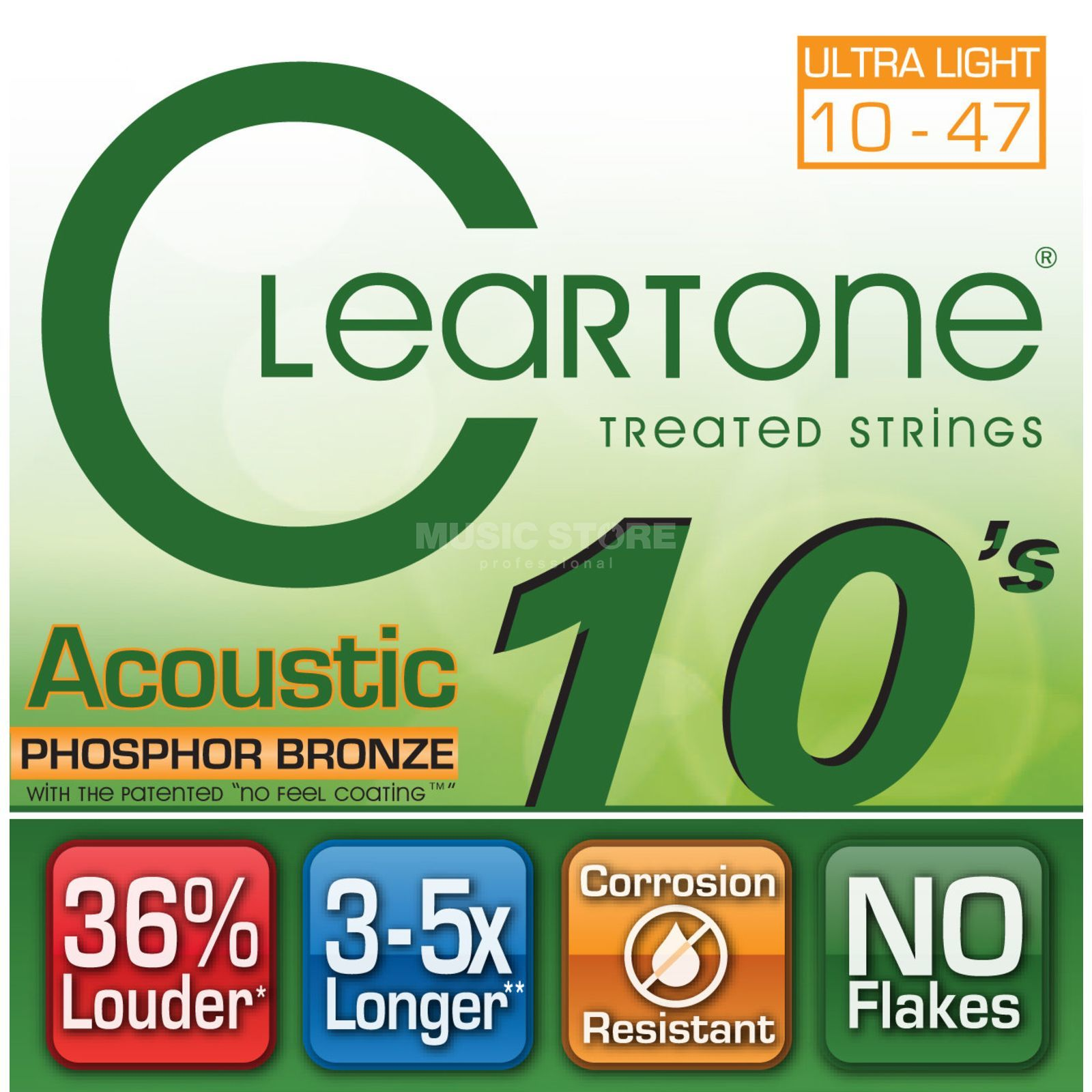 Cleartone CT7410 10-47 Phosphor Bronze EMP Coated Ultra Light Produktbild