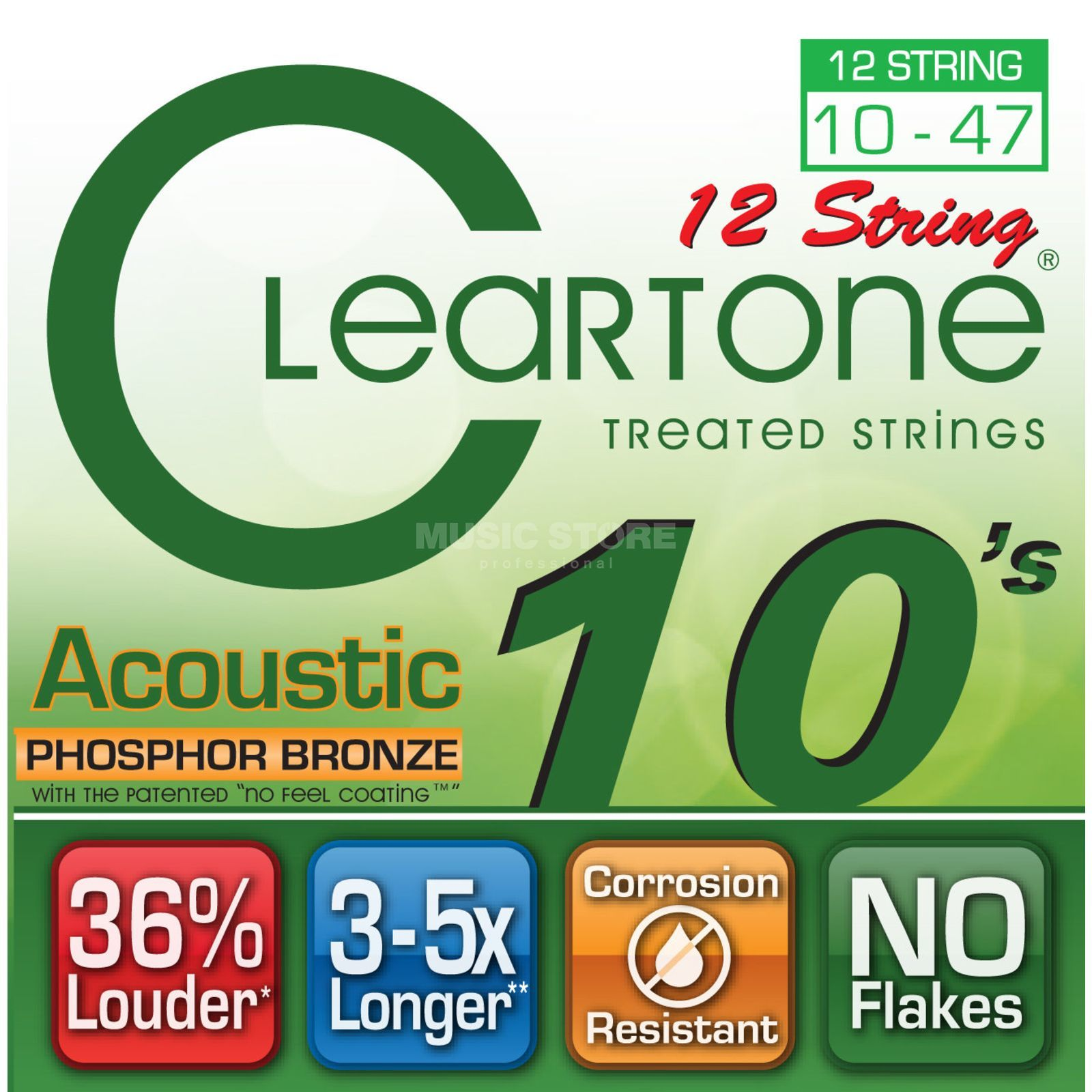 Cleartone CT7410/12 10-47 Phosphor Bronze 12-str EMP Coated Light Produktbild