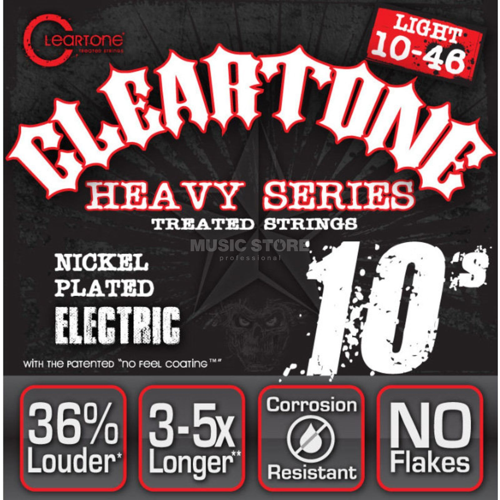 Cleartone CT9510 10-46 Nickel Plated EMP Coated Monster Heavy Light Image du produit