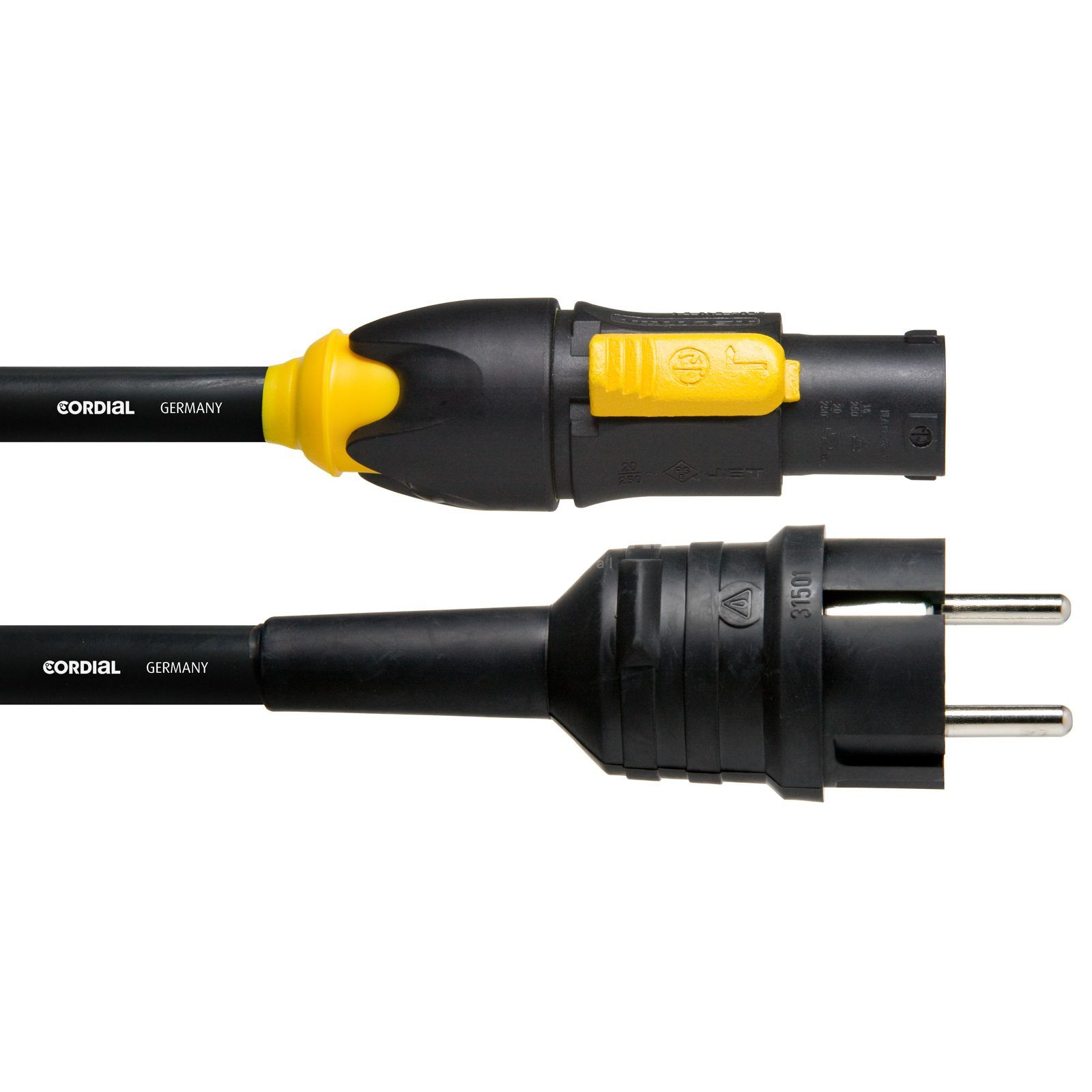 Cordial CFCA 1.5 S-TRUE1 PowerCon True1 Cable True1 in/Schuko 1,5m Produktbillede