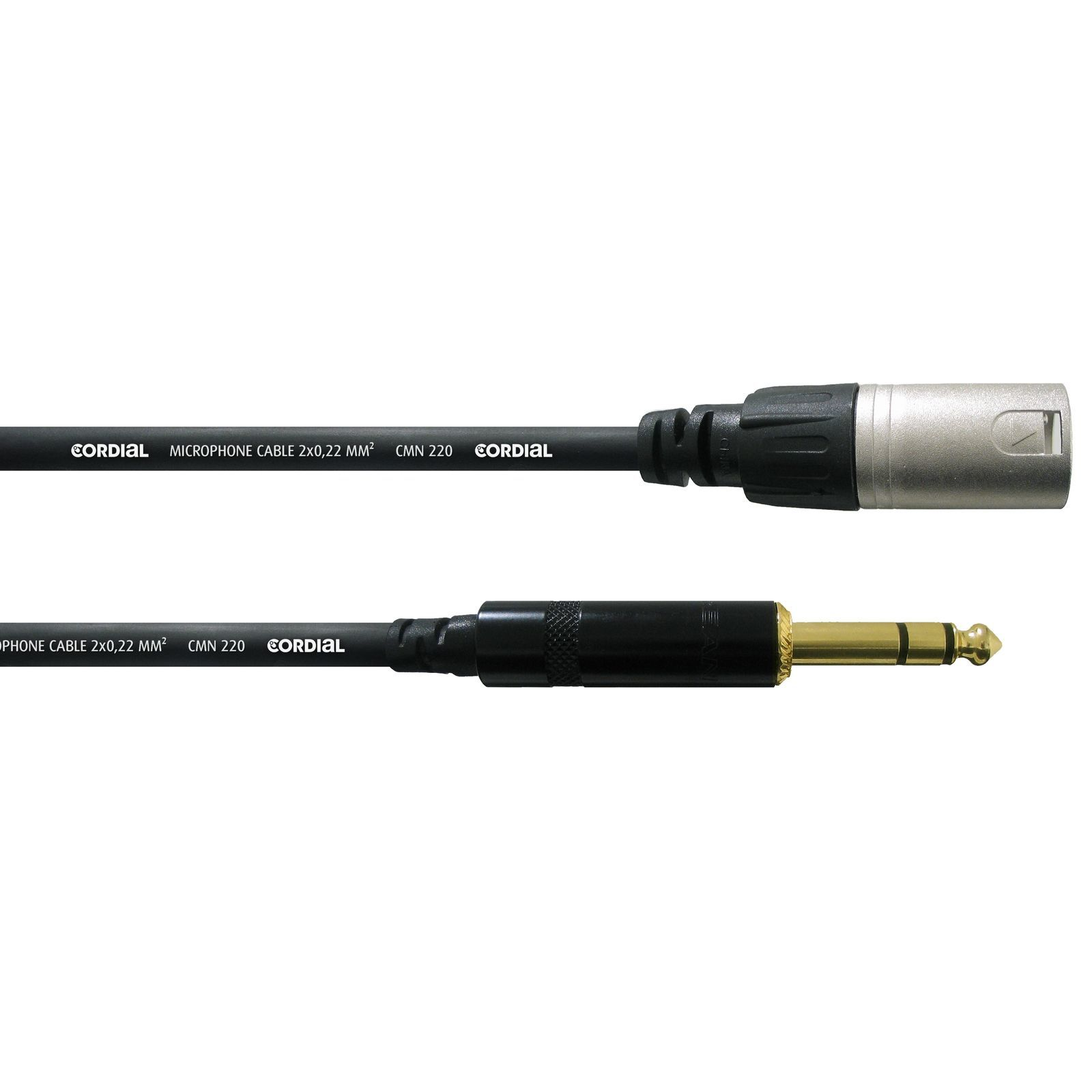 Cordial CFM 0.3 MV intro Microphone Cable XLR male - Jack stereo 0,3m Rean Product Image