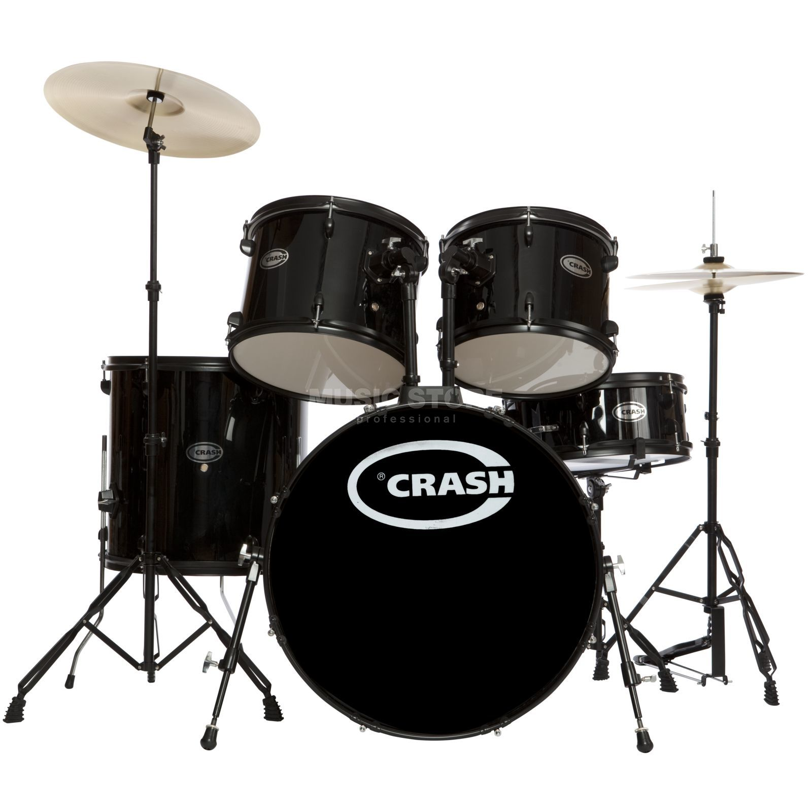 Crash Force Five DrumSet, Black, Black HW Produktbillede