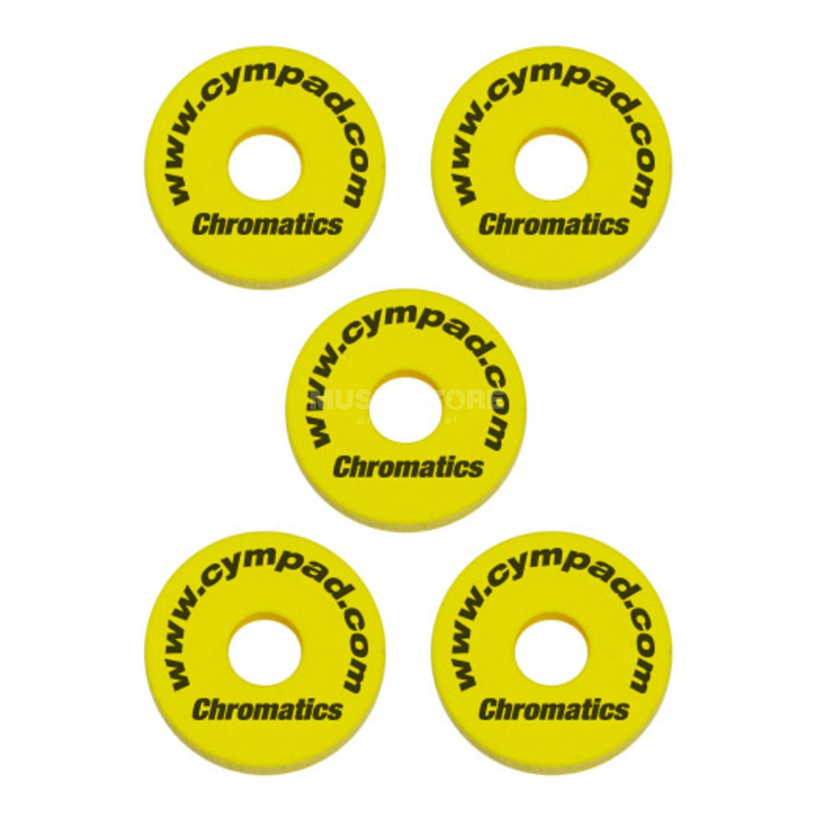"Cympad Beckenfilze ""Chromatics"", Yellow, 40x15 mm Produktbild"