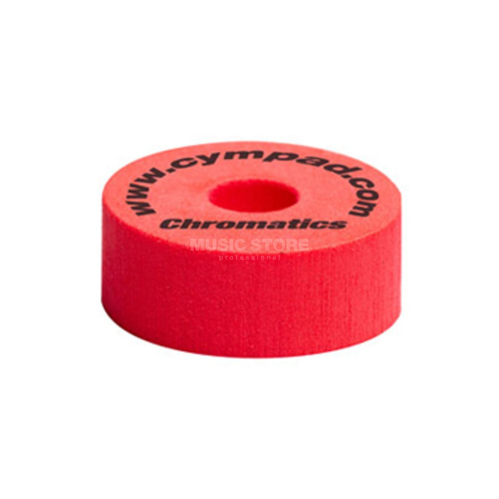 "Cympad Cymbal Felts ""Chromatics"", Red, 40x15 mm Produktbillede"
