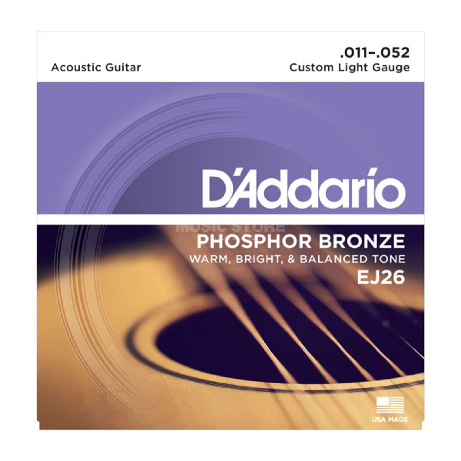 D'Addario A-Guit.Strings EJ26 11-52 Phosphor Bronze Product Image