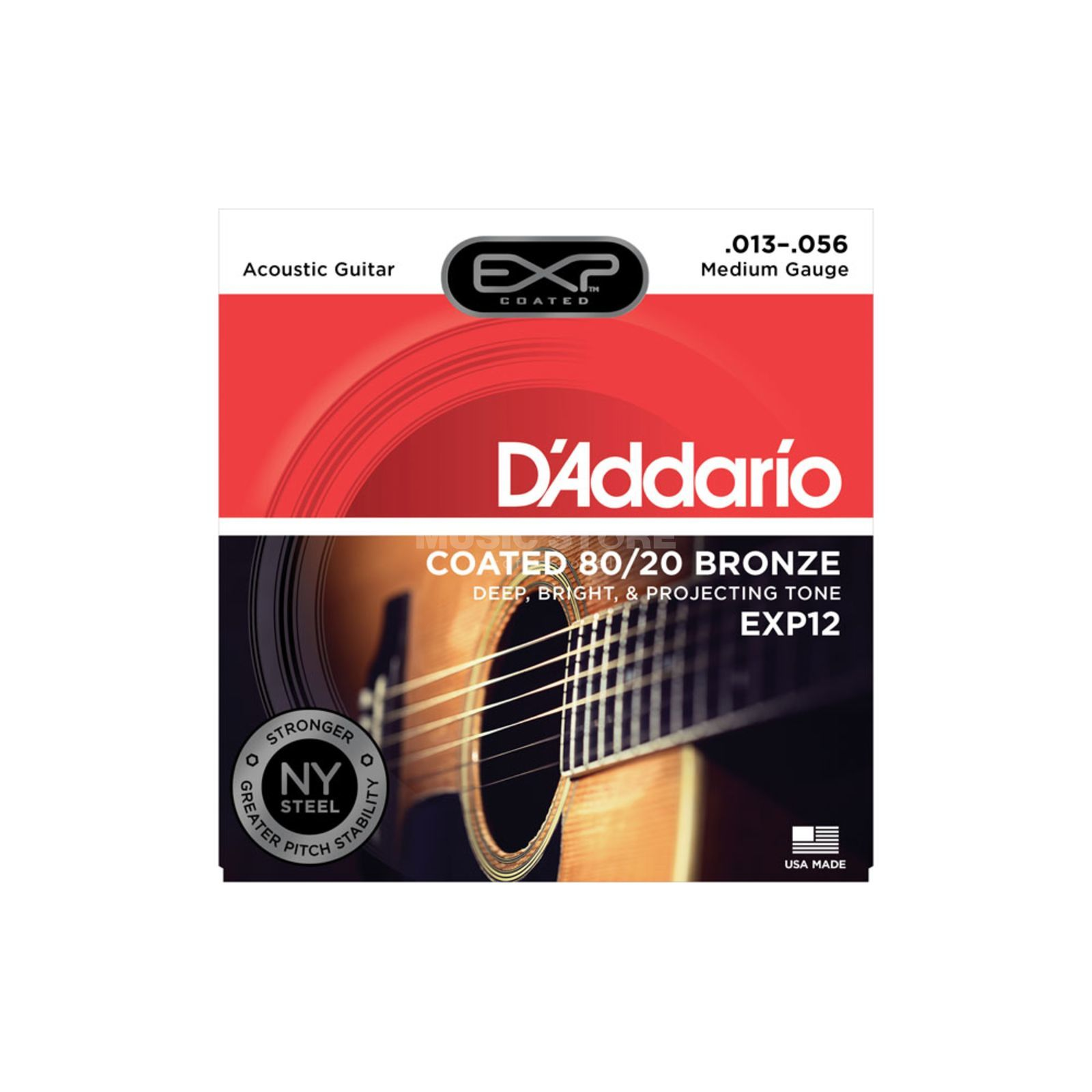 D'Addario A-Guit.Strings EXP12 13-56 Coated 80/20 Bronze Produktbillede
