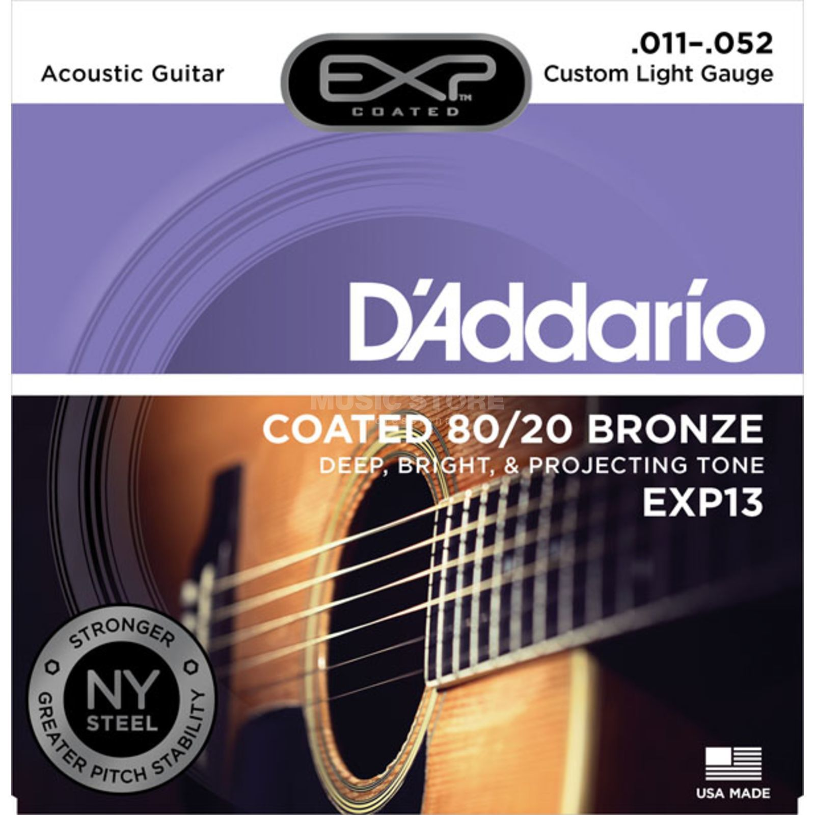 D'Addario A-Guit.Strings EXP13 11-52 Coated 80/20 Bronze Изображение товара