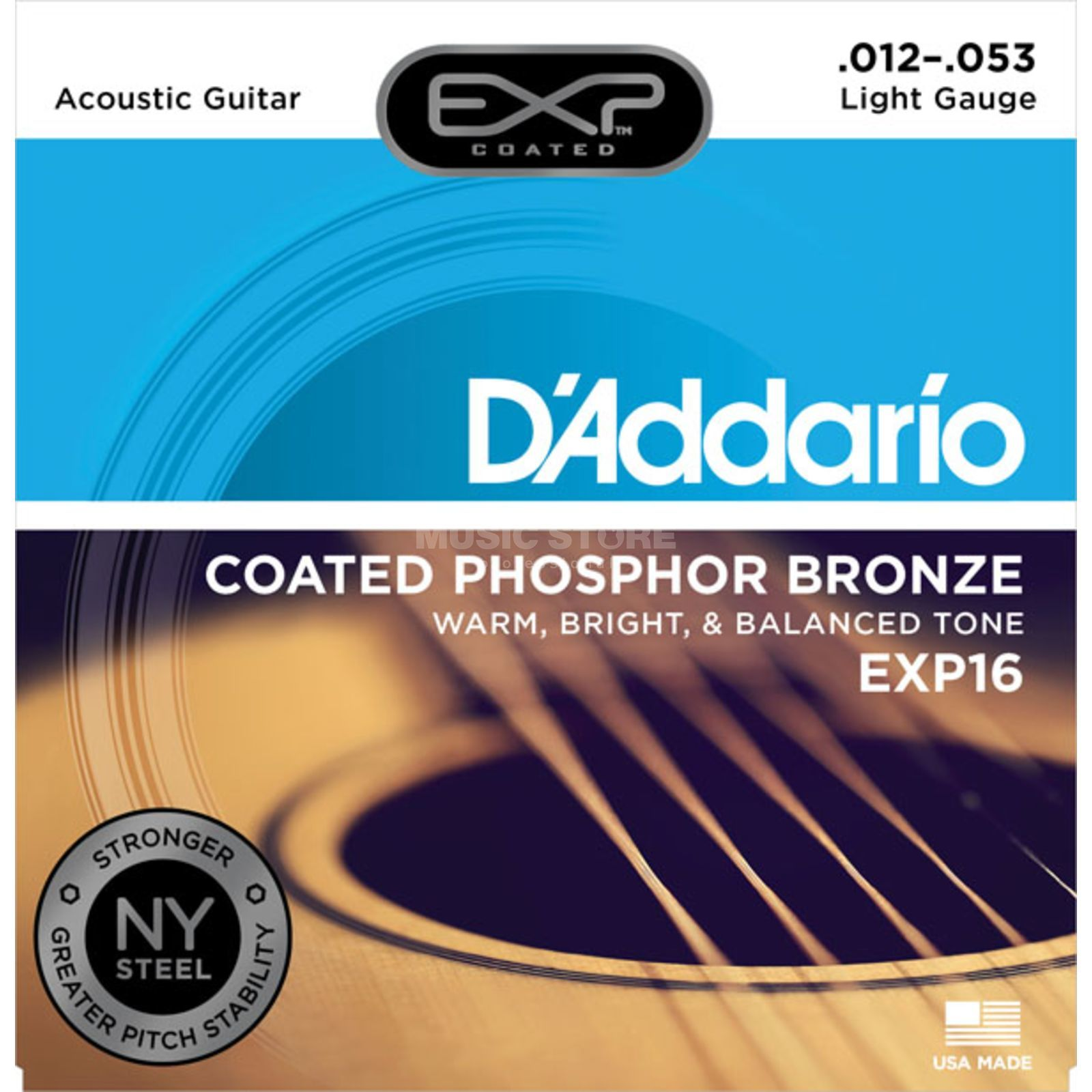 D'Addario A-Guit.Strings EXP16 12-53 Coated Phosphor Bronze Produktbillede