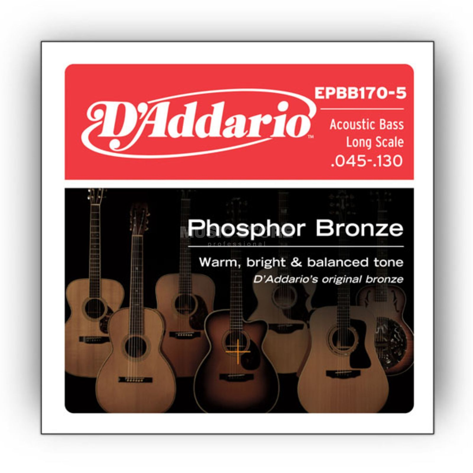 D'Addario Acoustic Bass Strings 45-130 5-String Product Image