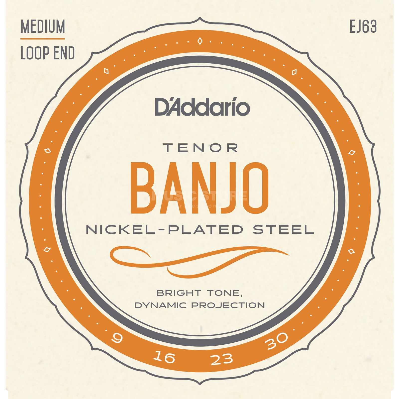 D'Addario Banjo Saiten EJ63 Tenor 4-String Nickel Loop End Produktbild