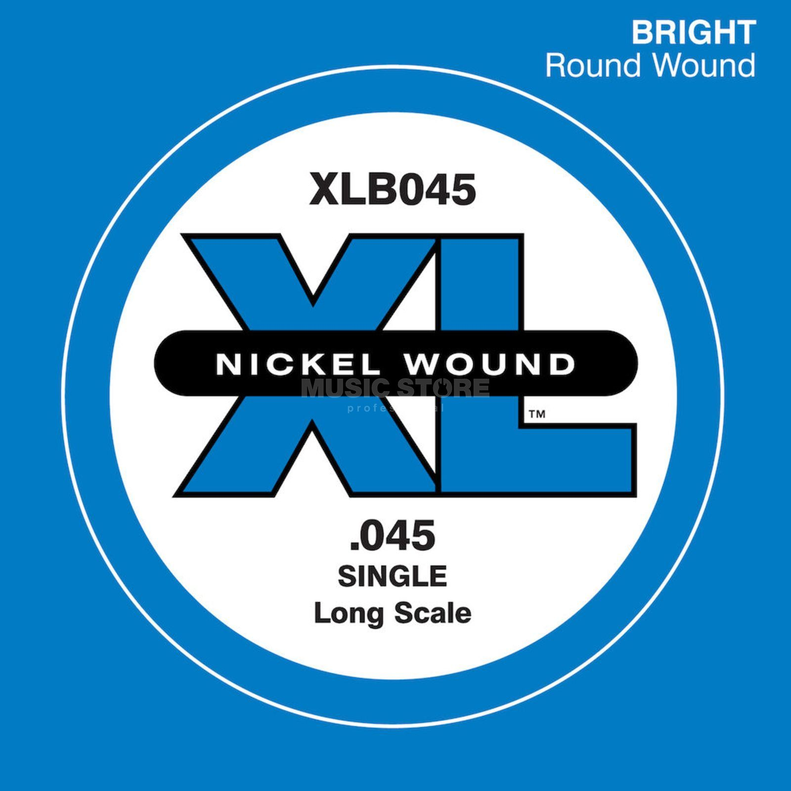 D'Addario Bass Single String XLB045 XL Nickel Wound Product Image