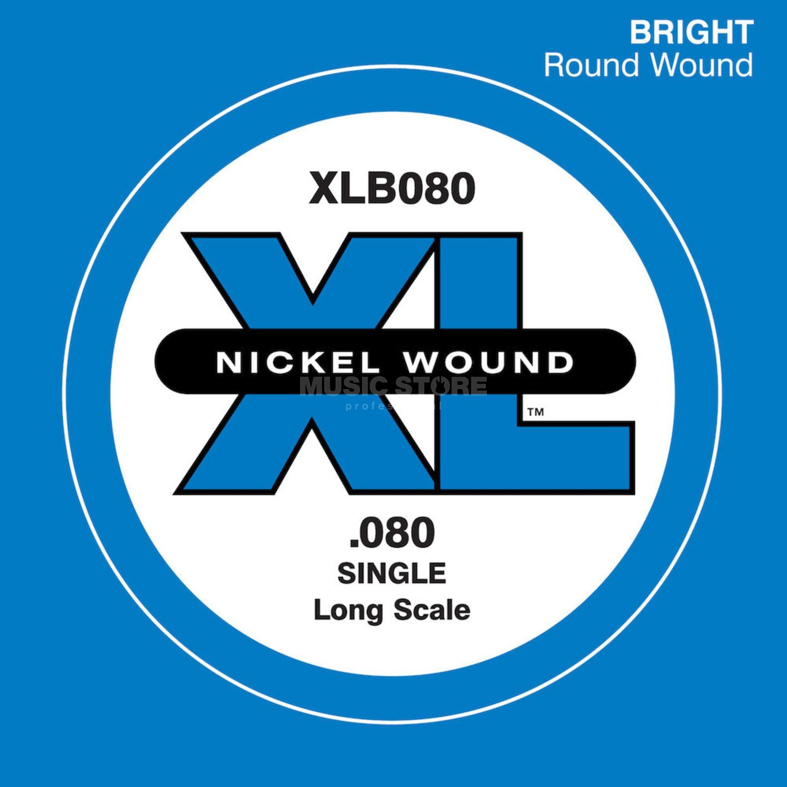 D'Addario Bass Single String XLB080 XL Nickel Wound Product Image