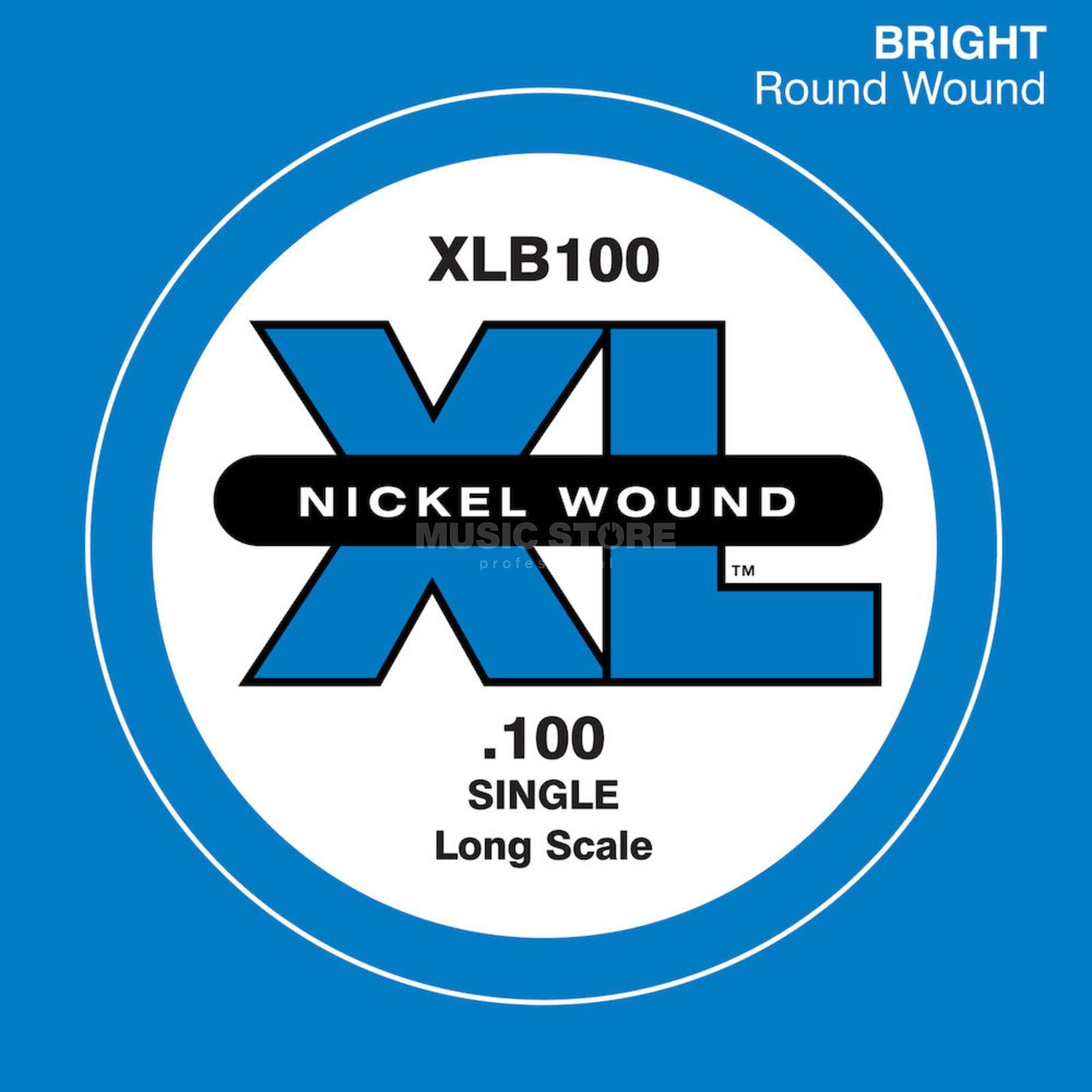 D'Addario Bass Single String XLB100 XL Nickel Wound Product Image