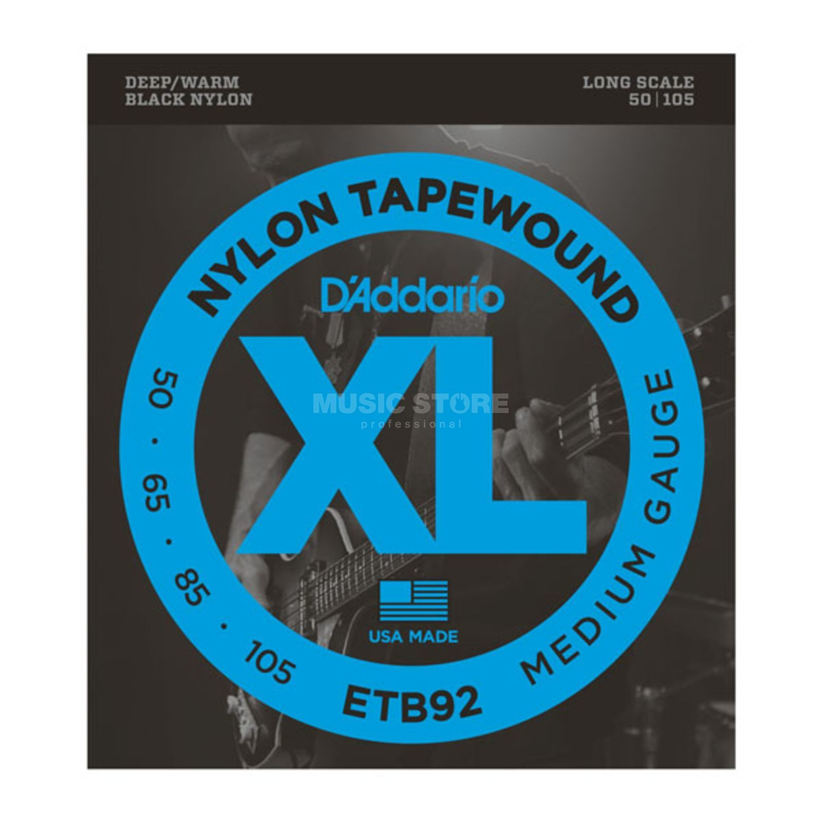 D'Addario Bass Stings Tapewound 50-105 50-65-85-105, Nylon, ETB92 Product Image