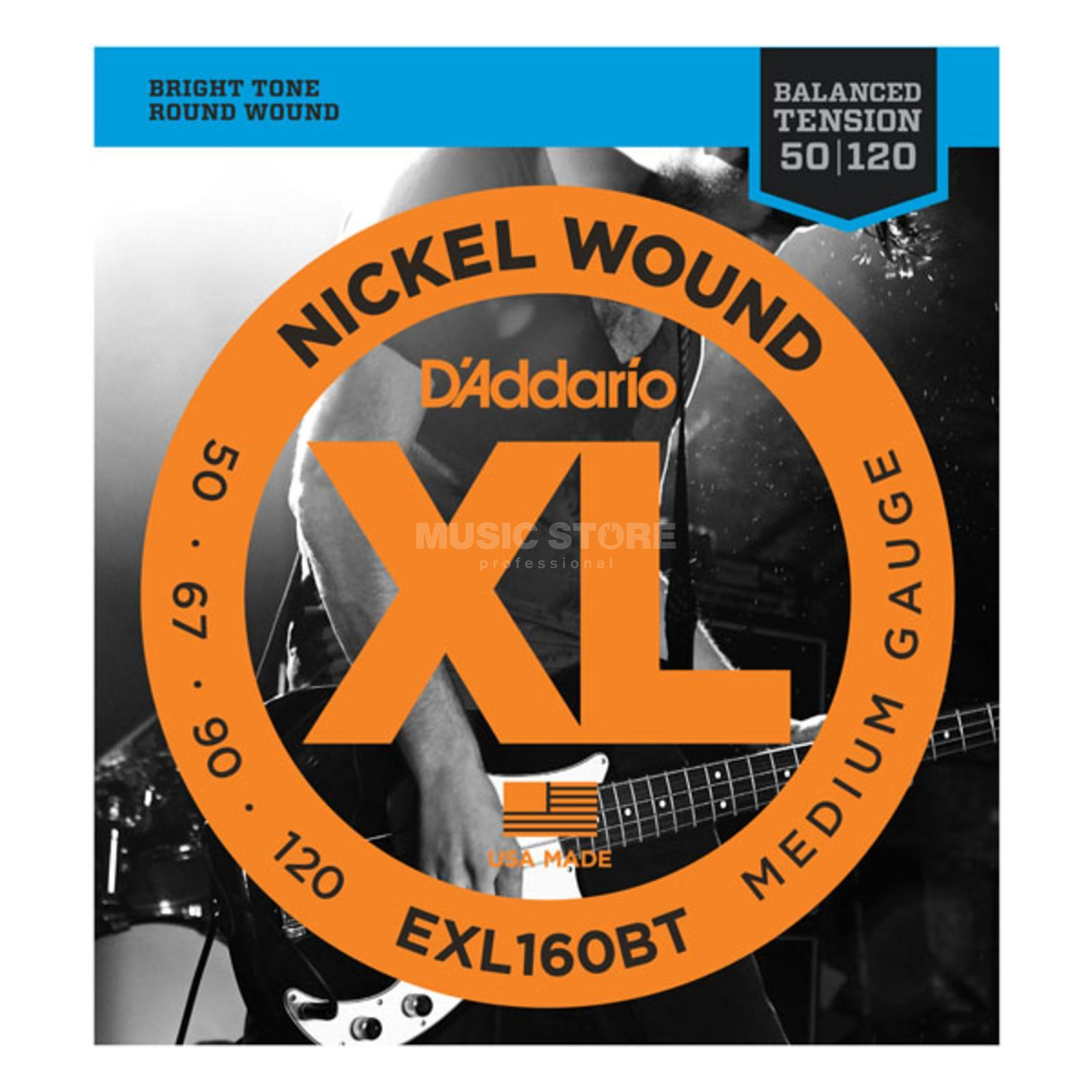 D'Addario Bass String XL Balanced 50-120 50-67-90-120, EXL160BT Product Image