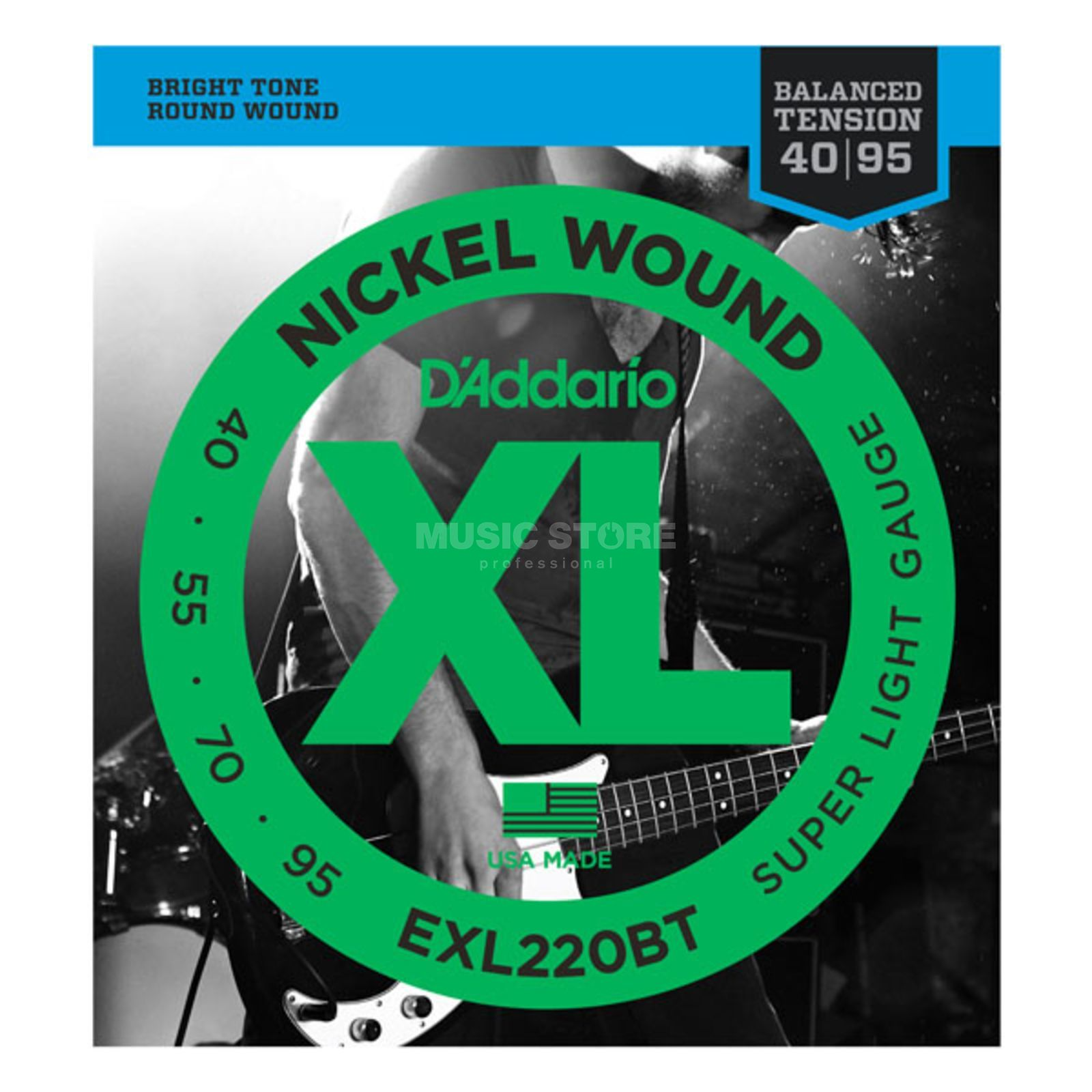 D'Addario Bass Strings XL Balanced 40-95 40-55-70-95, EXL220BT Immagine prodotto