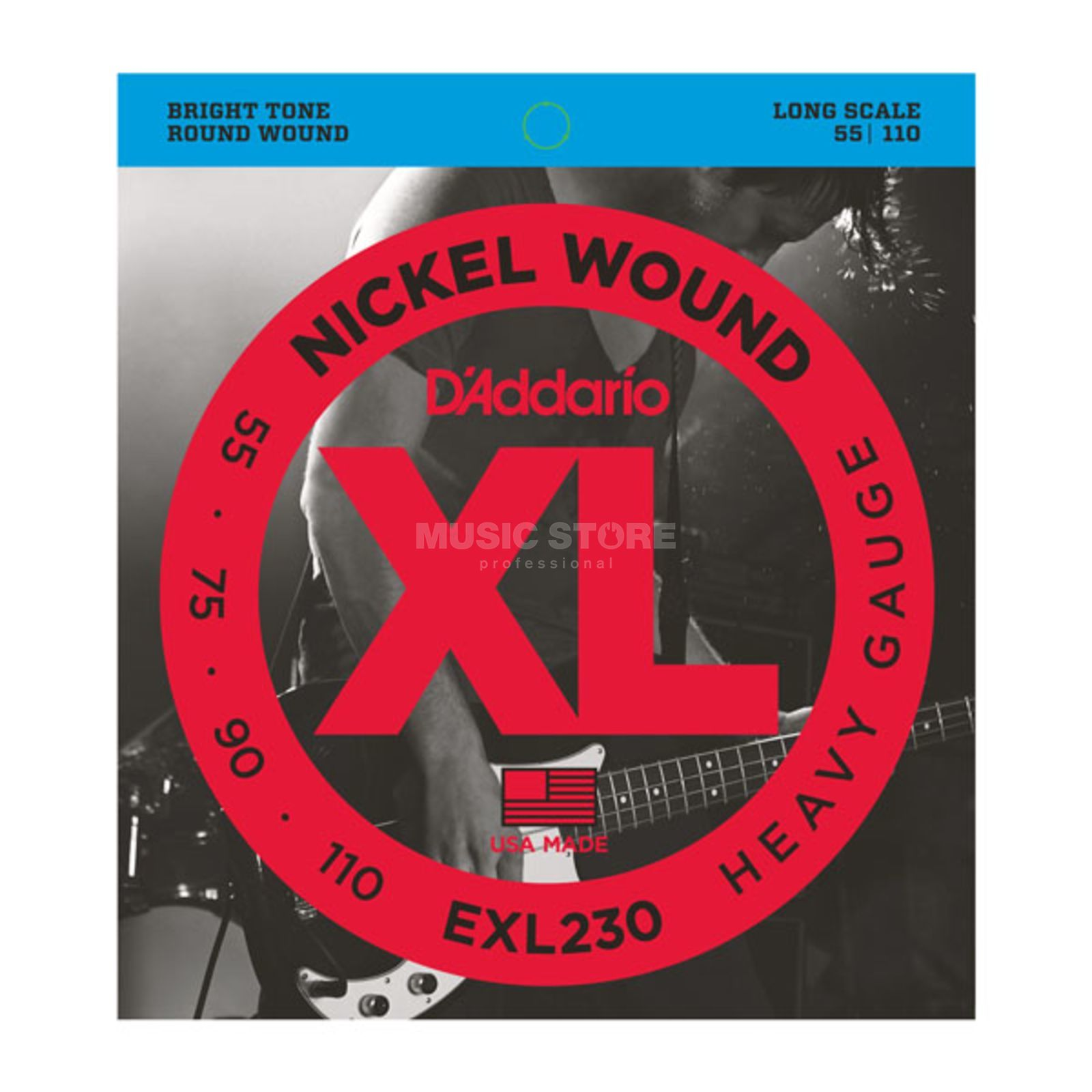 D'Addario Bass Strings XL Nickel 55-110 55-75-90-110, EXL230 Product Image